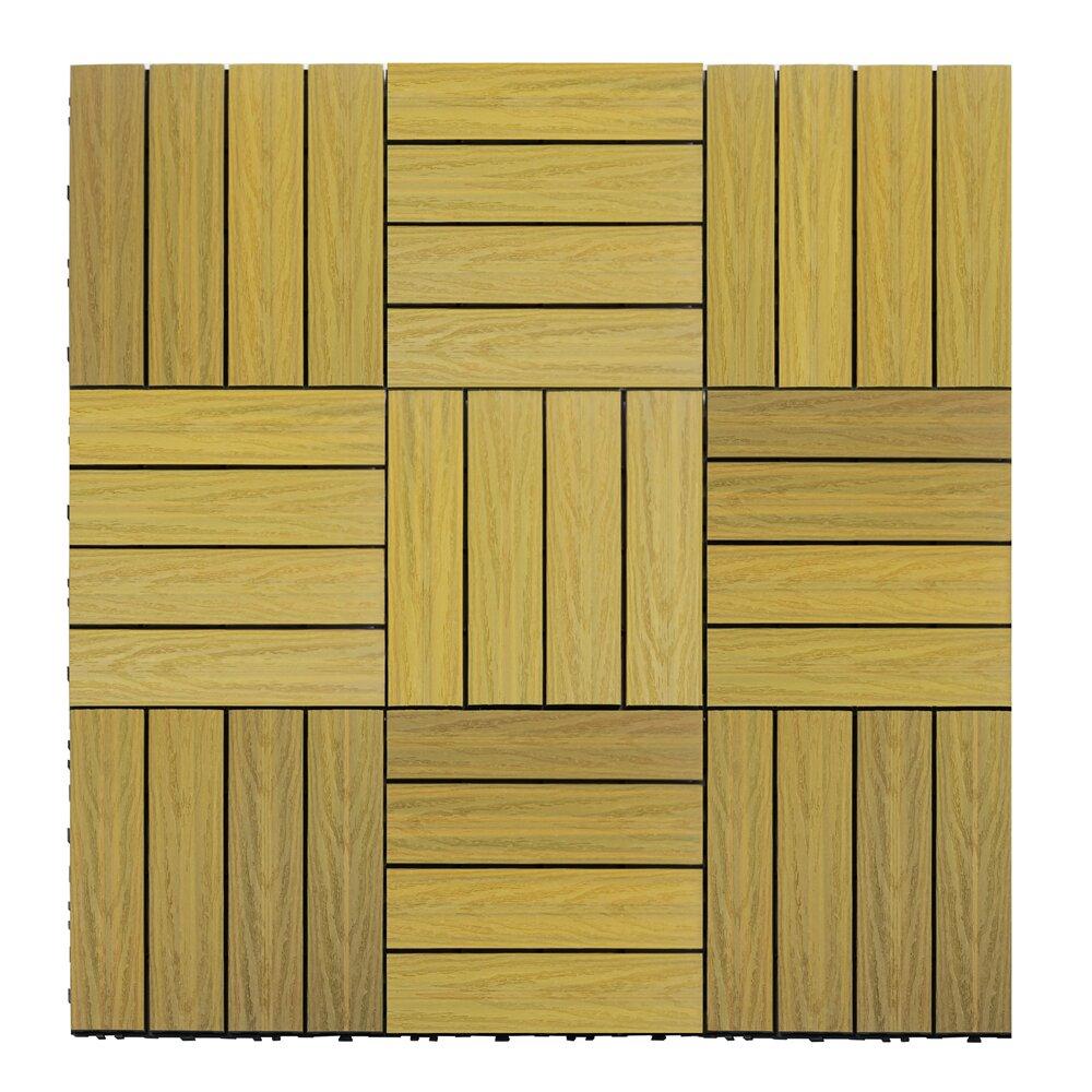 Newtechwood naturale composite 12 x 12 interlocking deck for 12 x 12 wood floor tiles