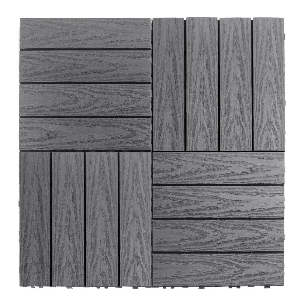 newtechwood naturale composite 12 x 12 interlocking deck. Black Bedroom Furniture Sets. Home Design Ideas