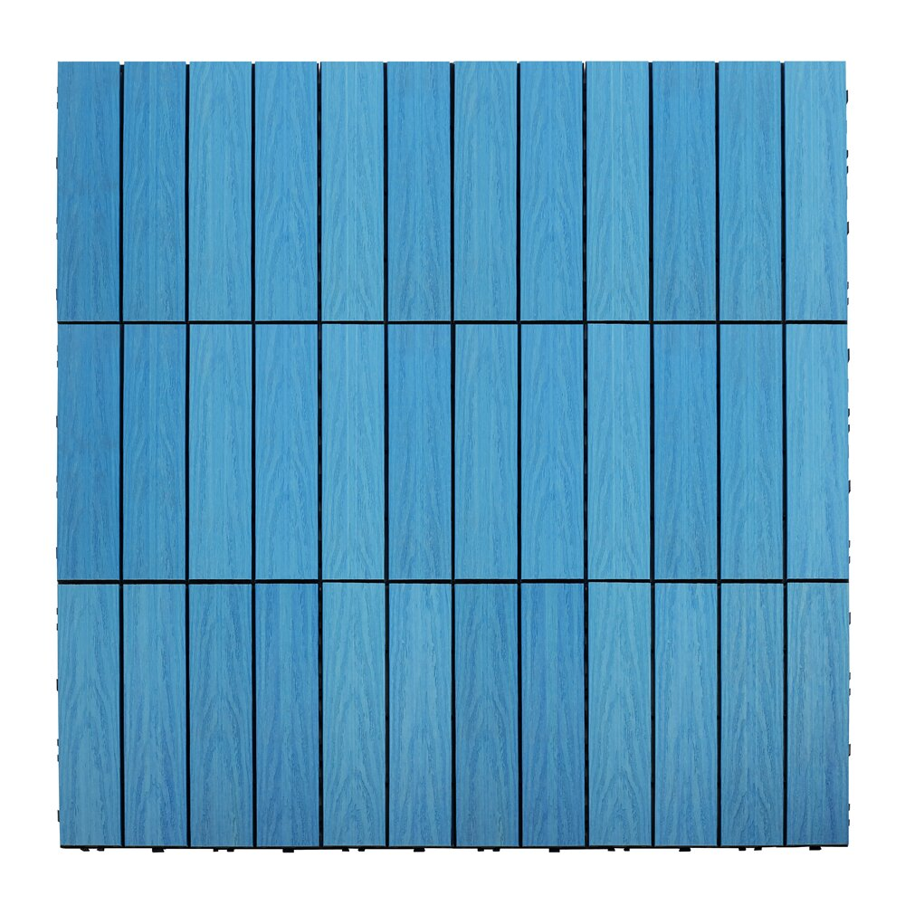 newtechwood naturale composite 12 x 12 interlocking deck tiles in caribbean blue reviews. Black Bedroom Furniture Sets. Home Design Ideas