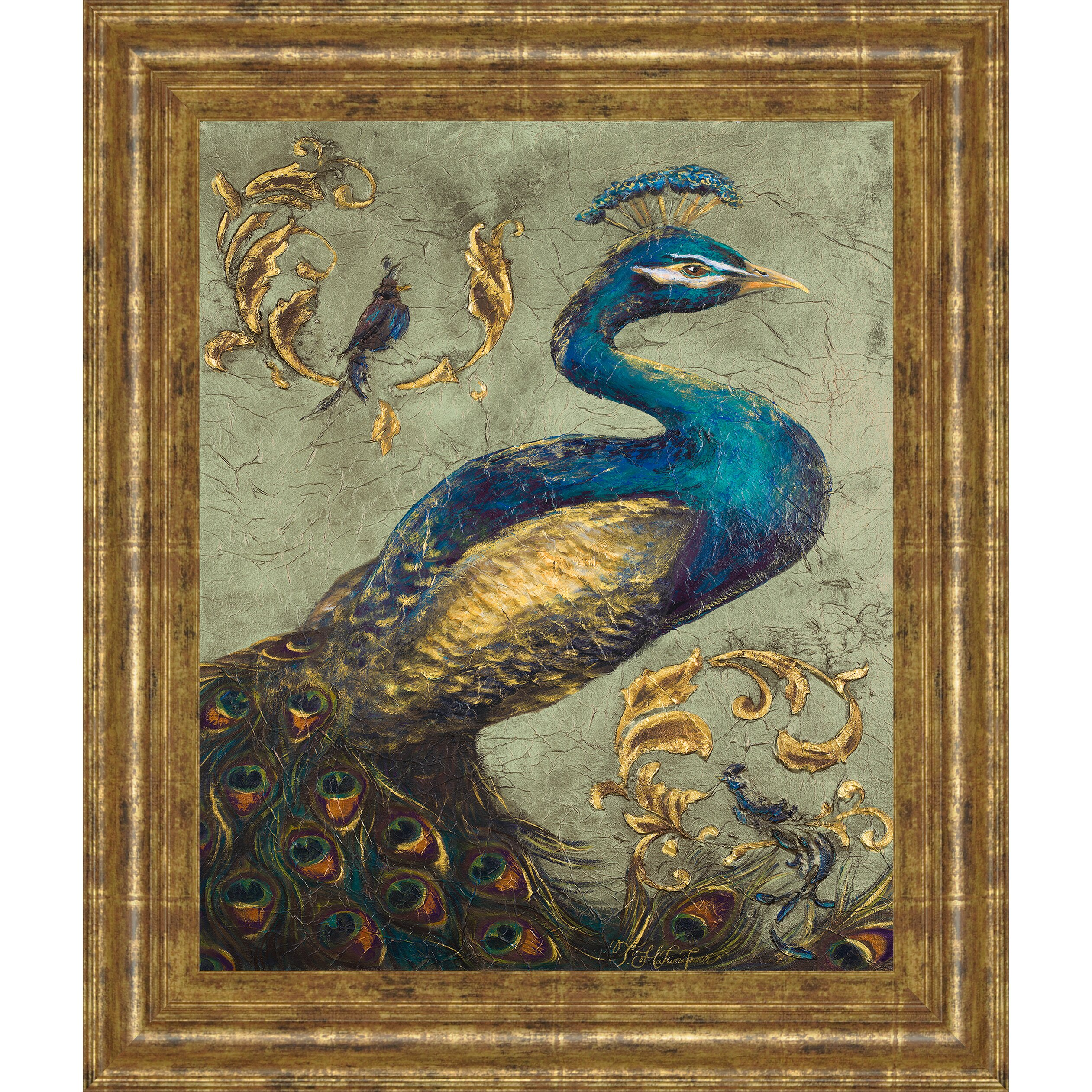 Classyartwholesalers Peacock On Sage I By Tiffany