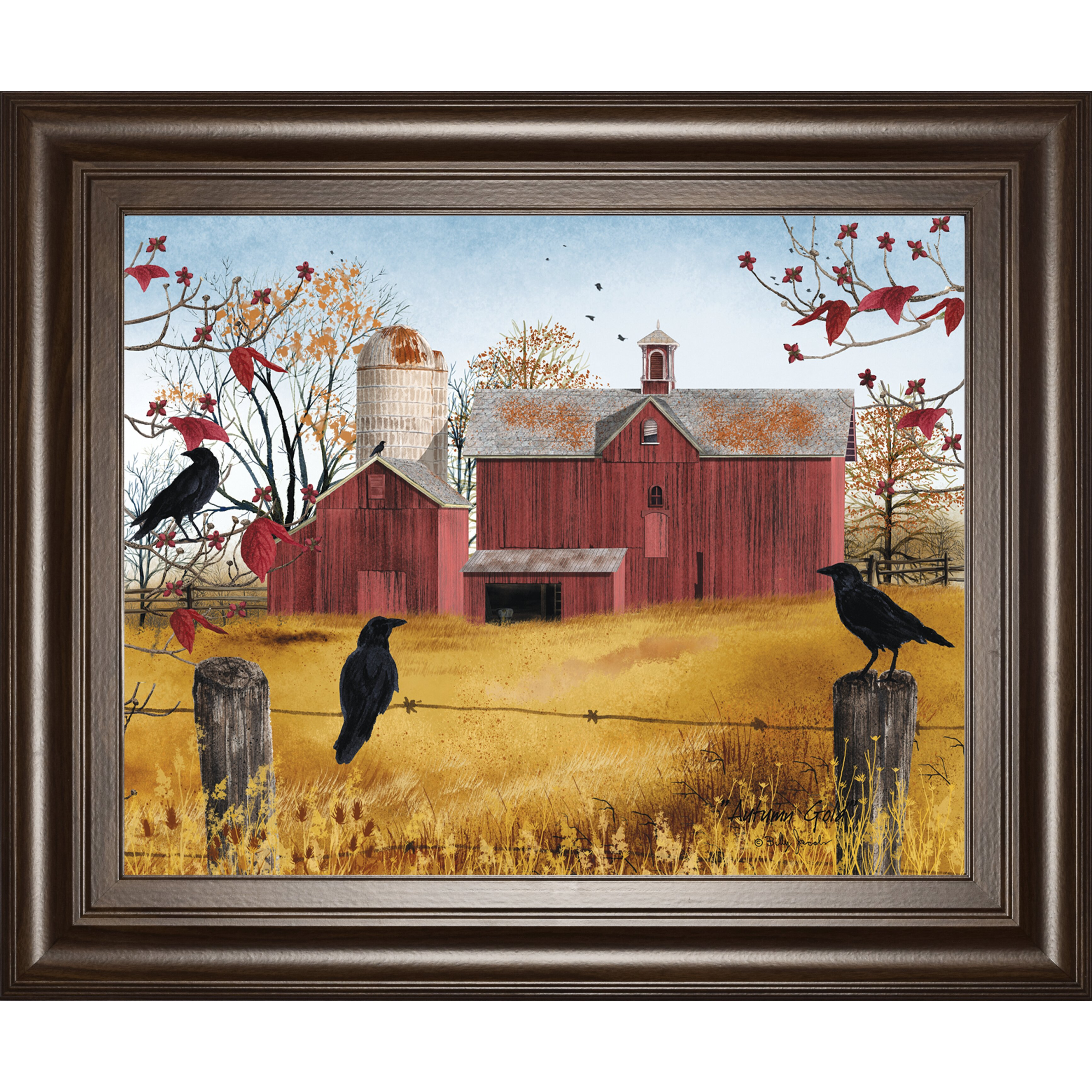 Classyartwholesalers Autumn Gold By Billy Jacobs Framed