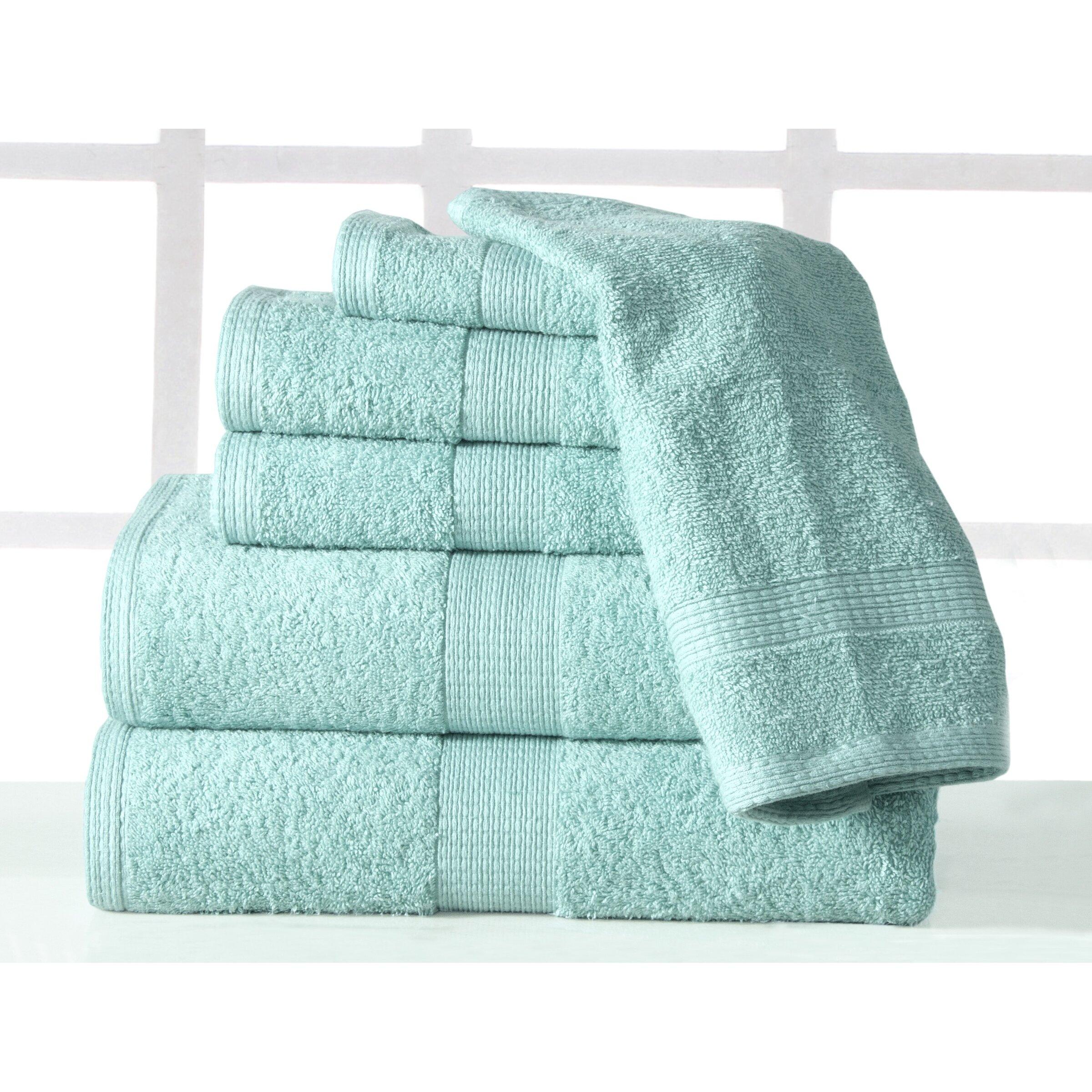 Bathroom Towels Luxury: Affinity Linens Supersoft Plush 6 Piece Towel Set