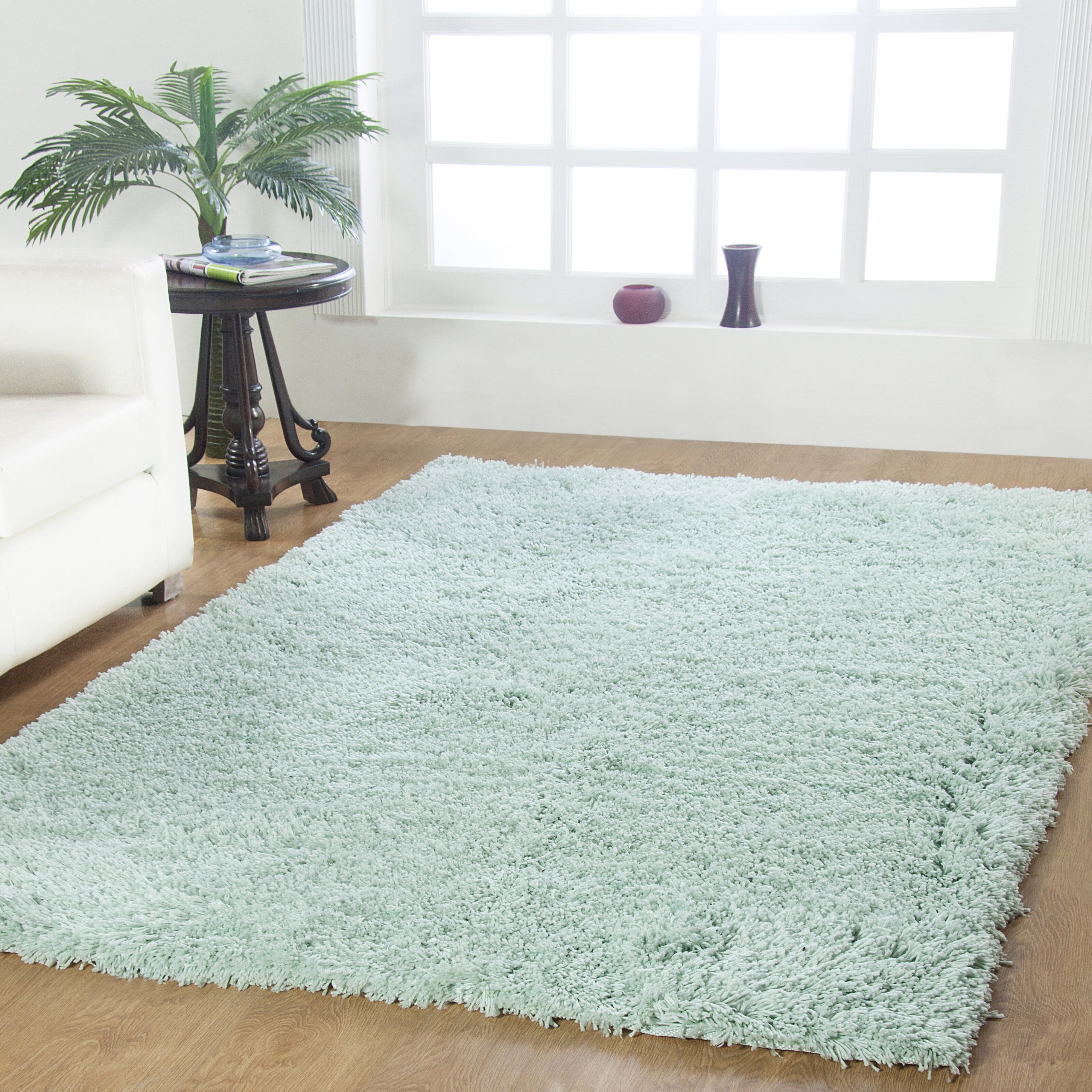 Affinity Linens Affinity Hand-Woven Aqua Area Rug