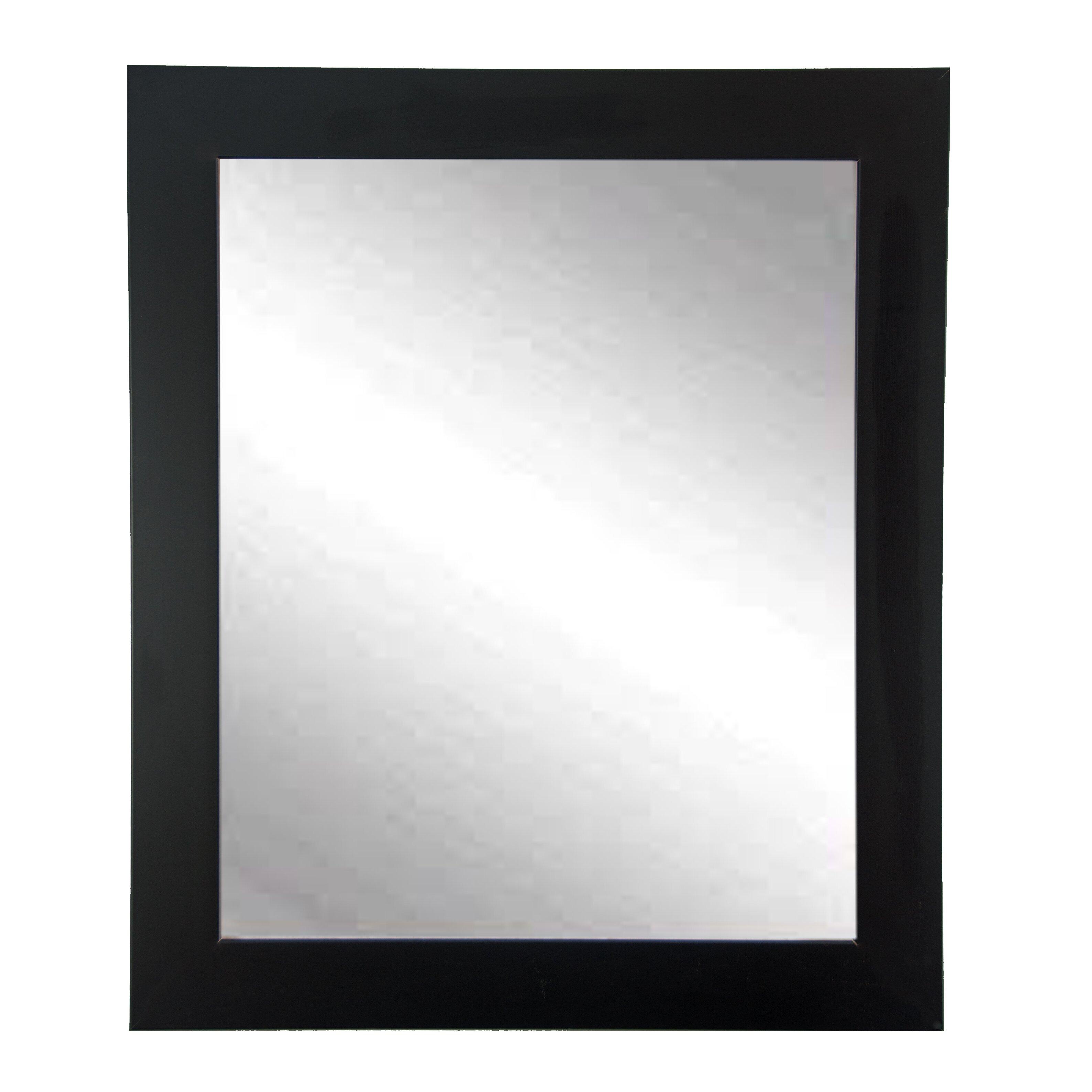 brandtworksllc black and white designer wall mirror reviews wayfair. Black Bedroom Furniture Sets. Home Design Ideas