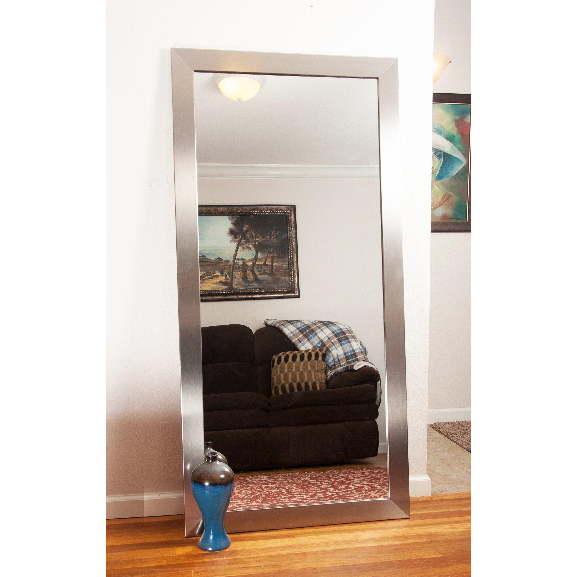 Brandtworksllc Modern Silver Floor Mirror Reviews Wayfair