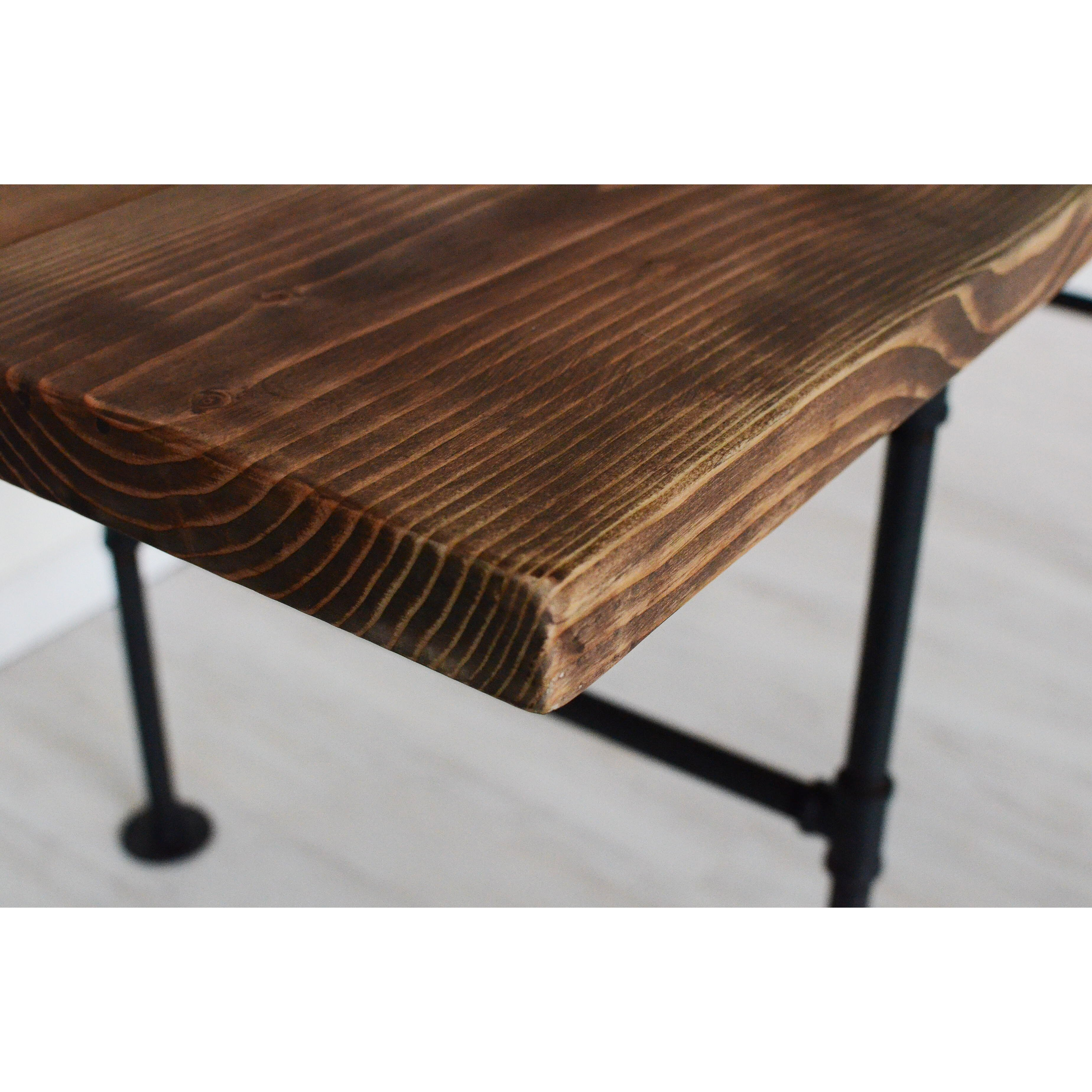 Brandtworksllc american iron pipe 6 foot dining table for Table 6 foot