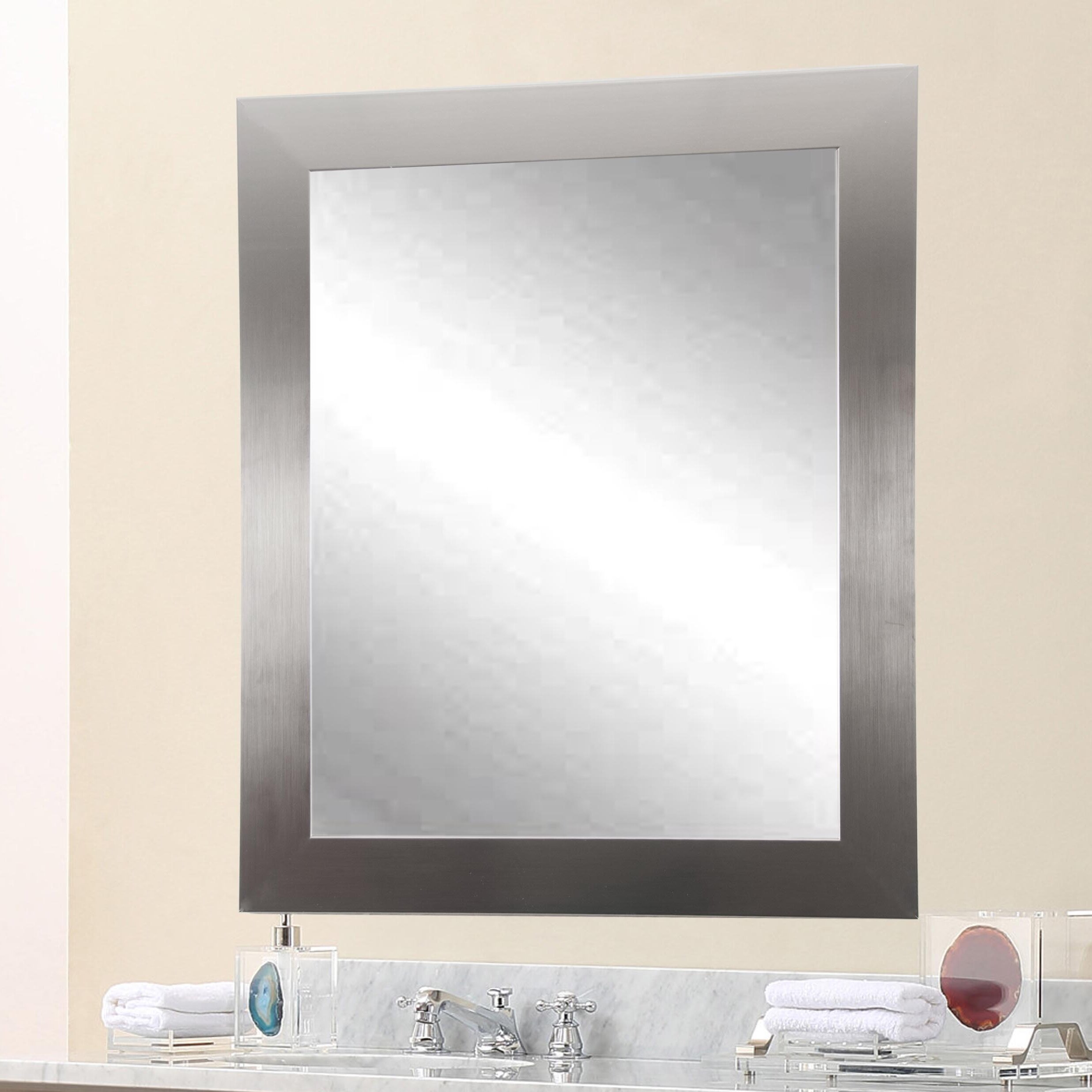 Model BrandtWorksLLC Ultra Modern Vanity Wall Mirror Amp Reviews  Wayfair