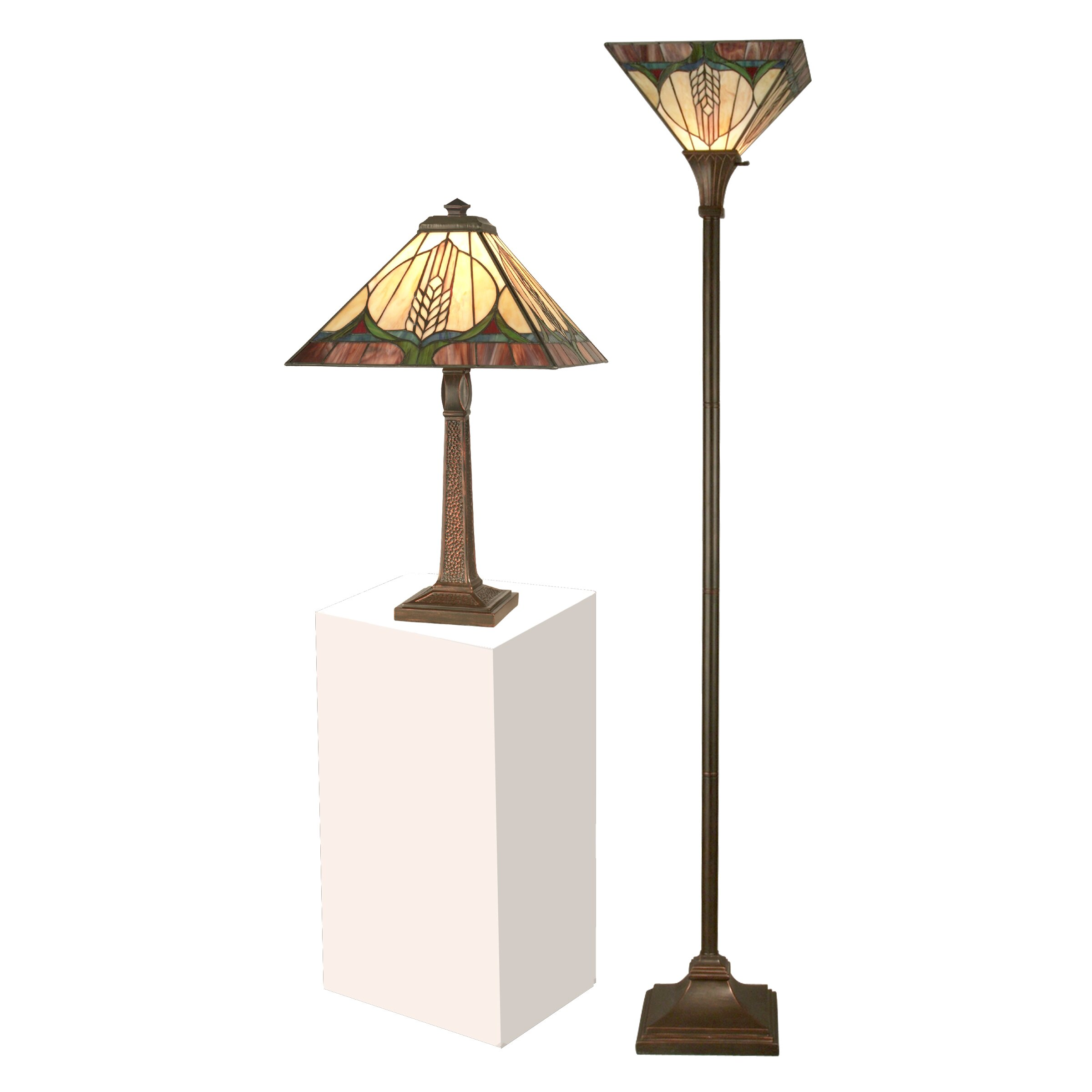 lighting lamps rustic floor lamps dale tiffany sku dt3295. Black Bedroom Furniture Sets. Home Design Ideas