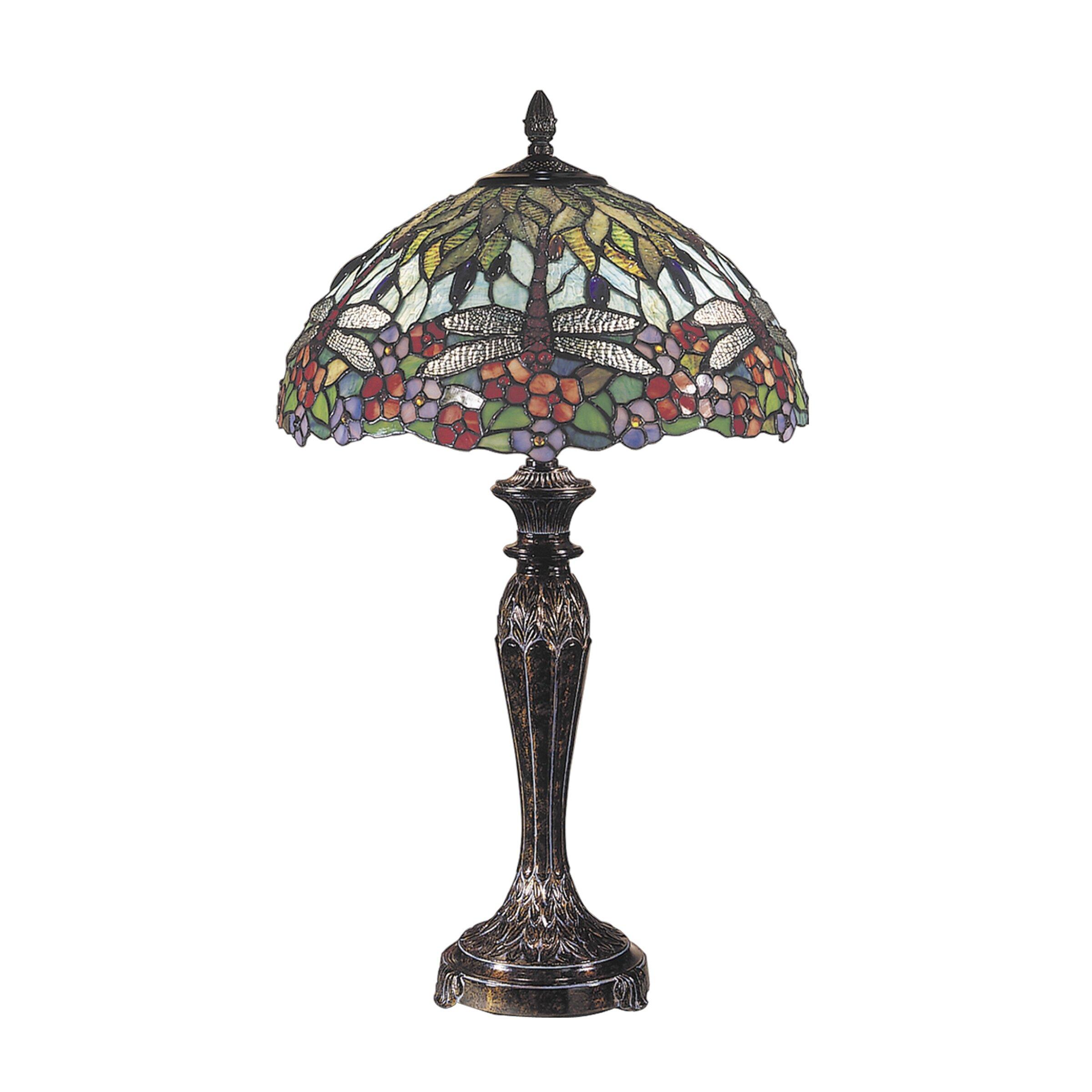 "Dale Tiffany Floral 29"" Table Lamp & Reviews | Wayfair.ca"