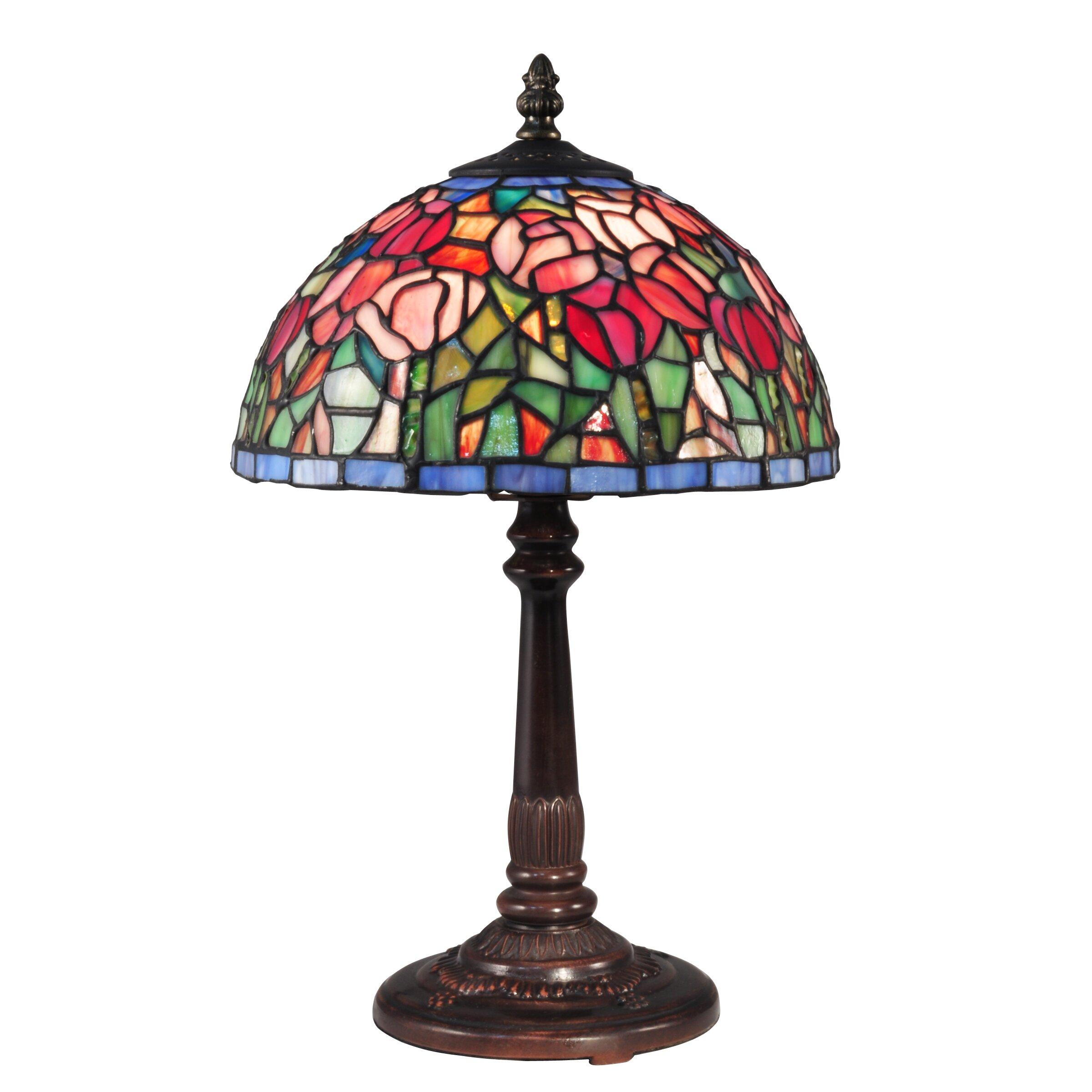 dale tiffany tulip 16 table lamp wayfair. Black Bedroom Furniture Sets. Home Design Ideas