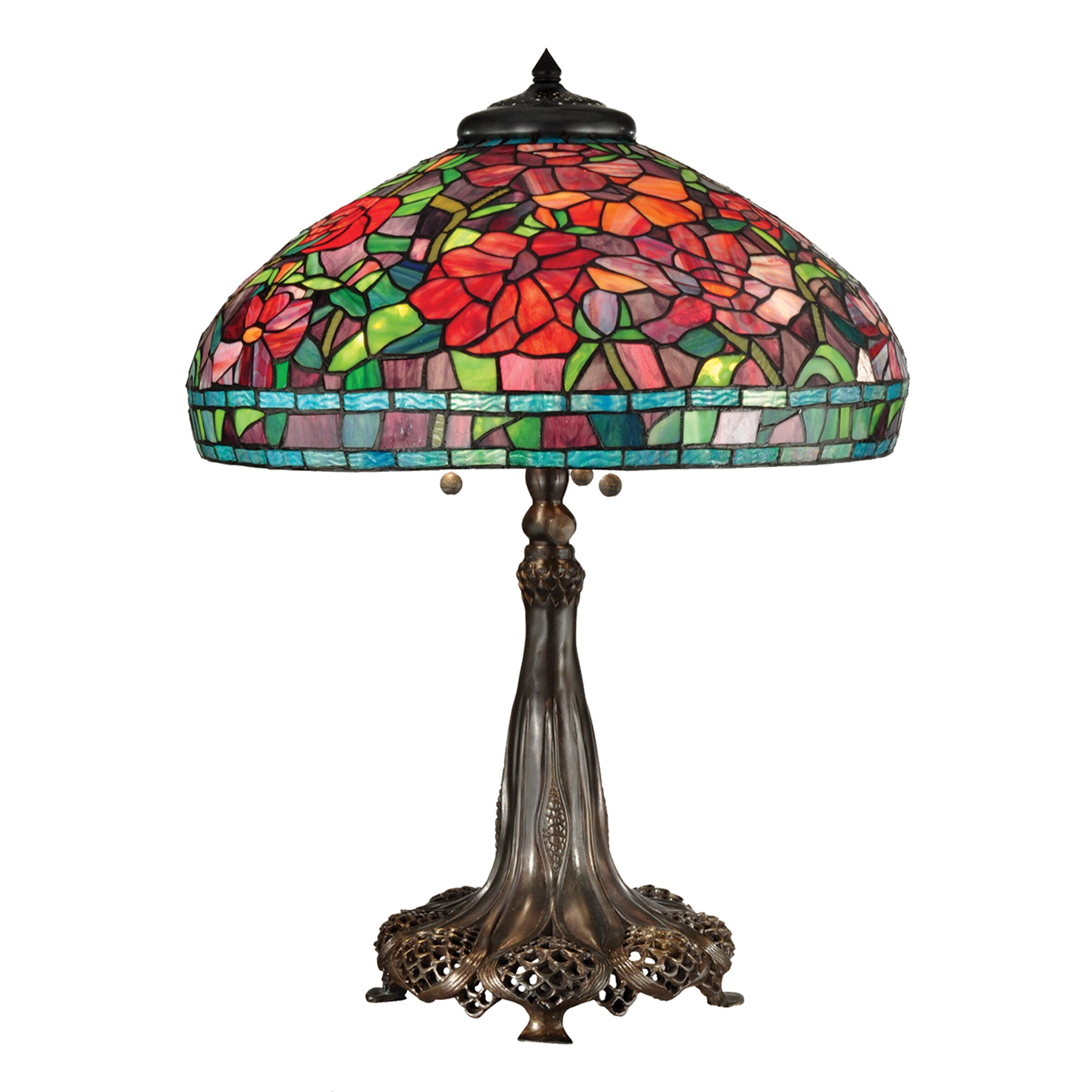 "Wayfair Table Lamps >> Dale Tiffany Peony 29.5"" Table Lamp 