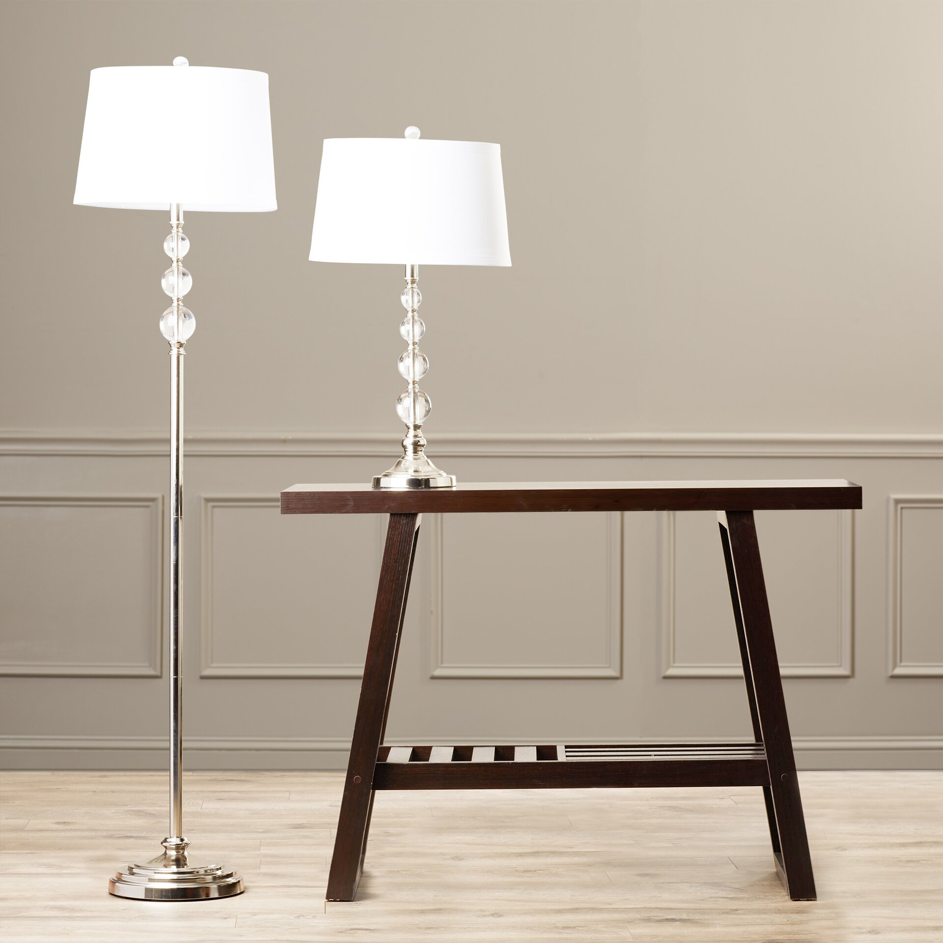 Dale Tiffany Optic 2 Piece Table And Floor Lamp Set