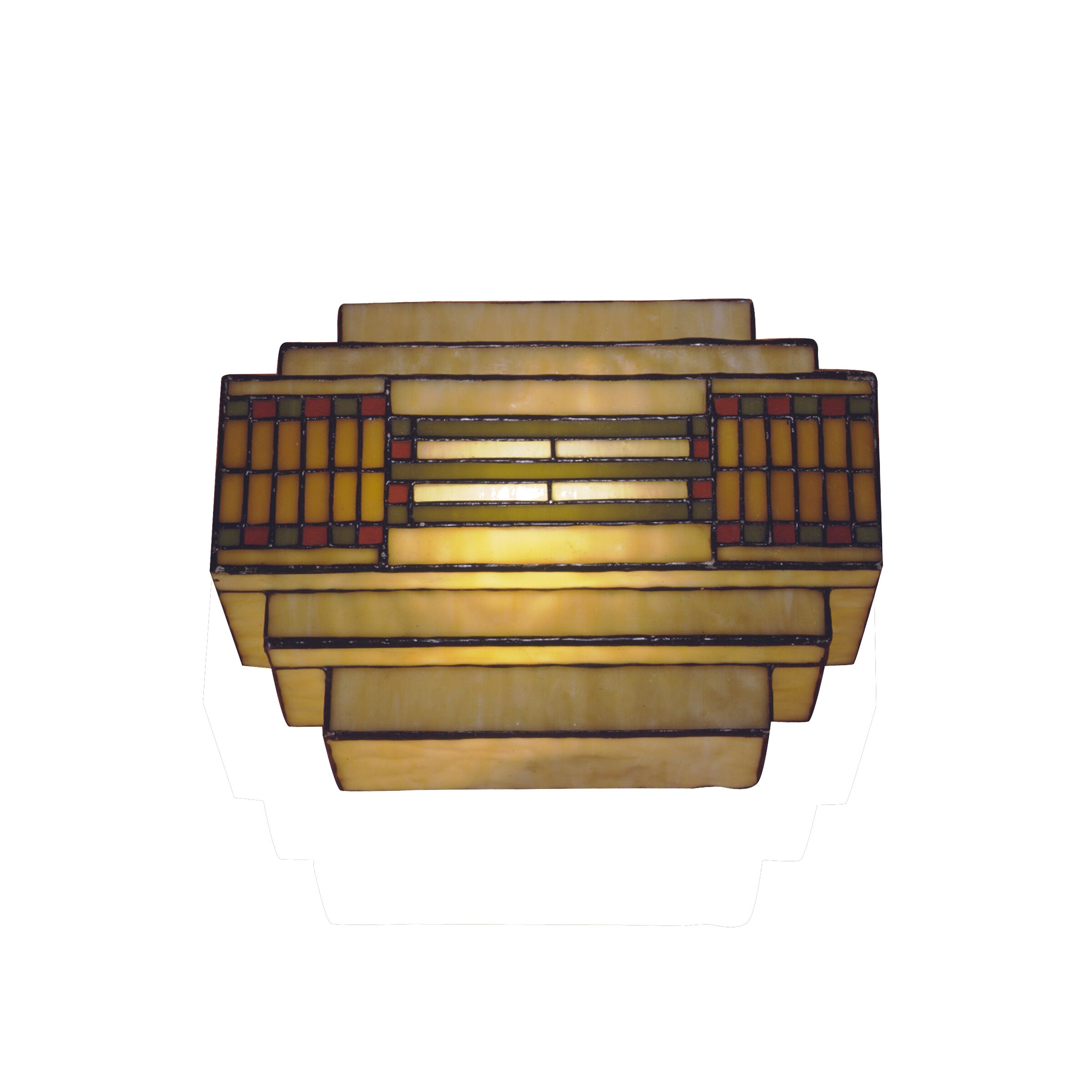 Mission Tiffany Wall Sconces: Dale Tiffany Mission/Prairie Series 1 Light Wall Sconce