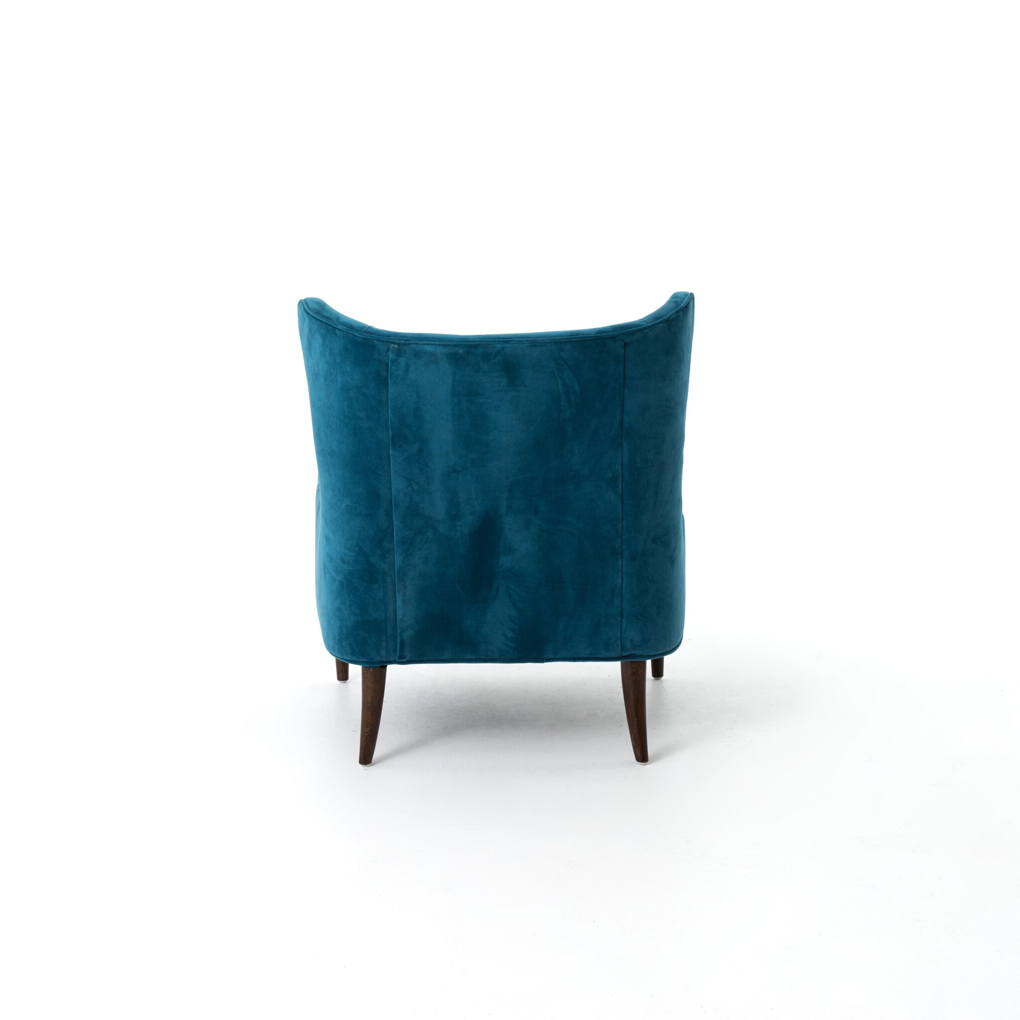 Design Tree Home Velvet Blue Marlow Wingback Chair