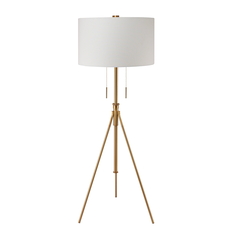 Decoratorslighting mantis brass tripod floor lamp for Wayfair industrial lamp