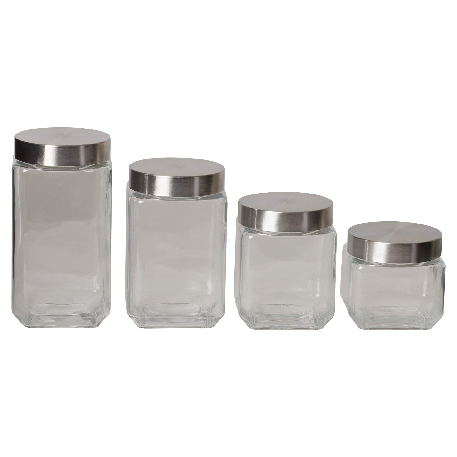 wayfair basics wayfair basics 4 piece square glass 7 best images about kitchen canisters on pinterest
