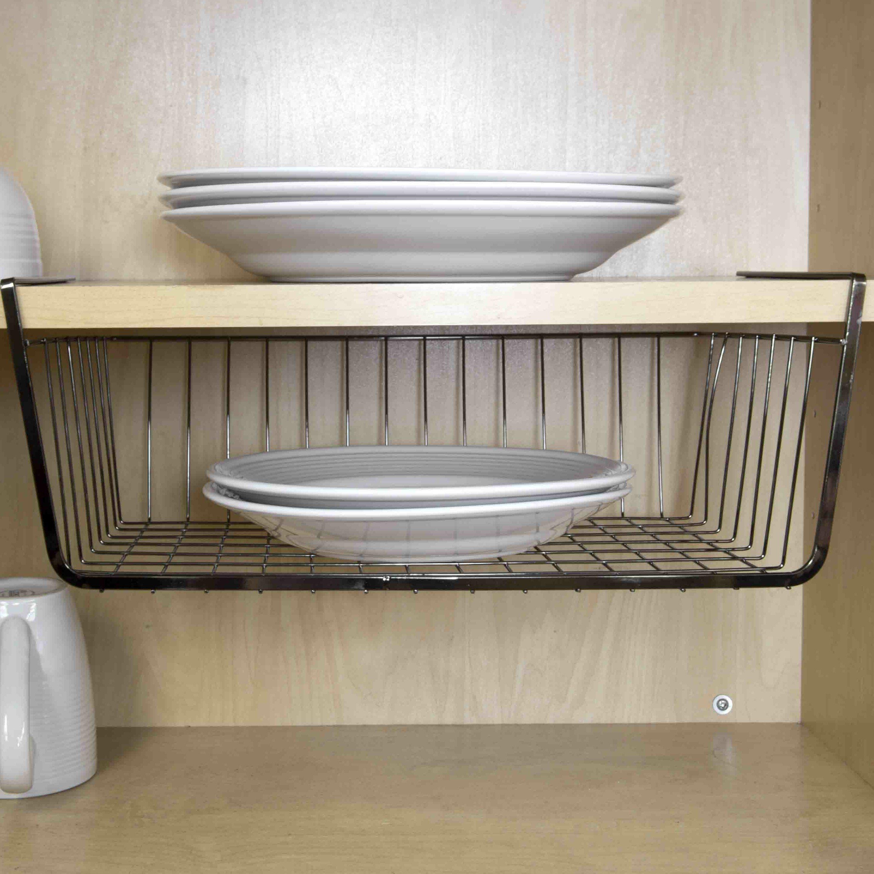wayfair basics wayfair basics metal under shelf basket. Black Bedroom Furniture Sets. Home Design Ideas