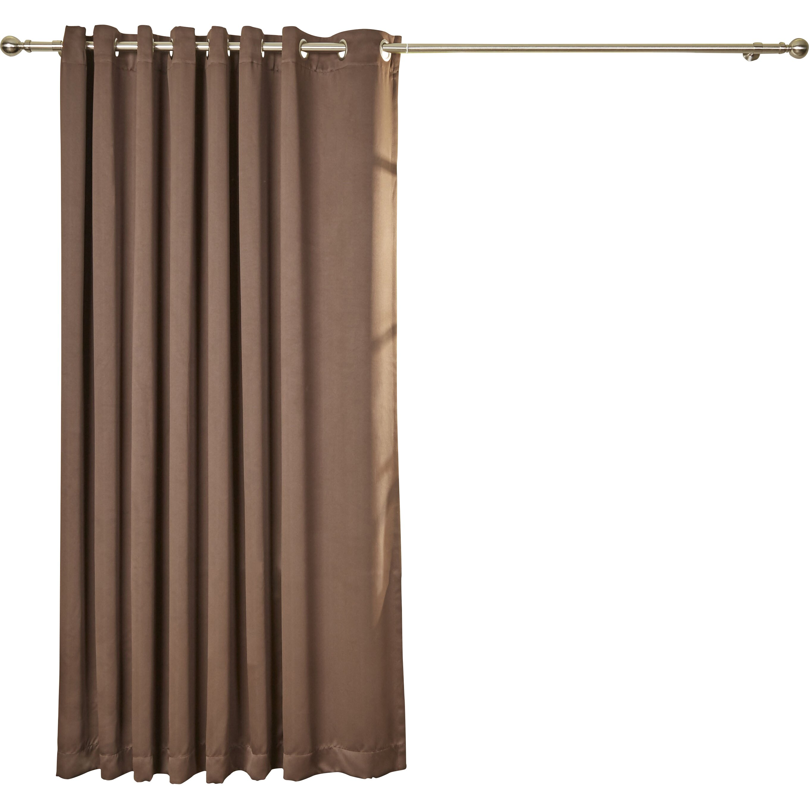 Wayfair Basics Wayfair Basics Blackout Grommet Patio Door Single Curtain Panel Reviews Wayfair