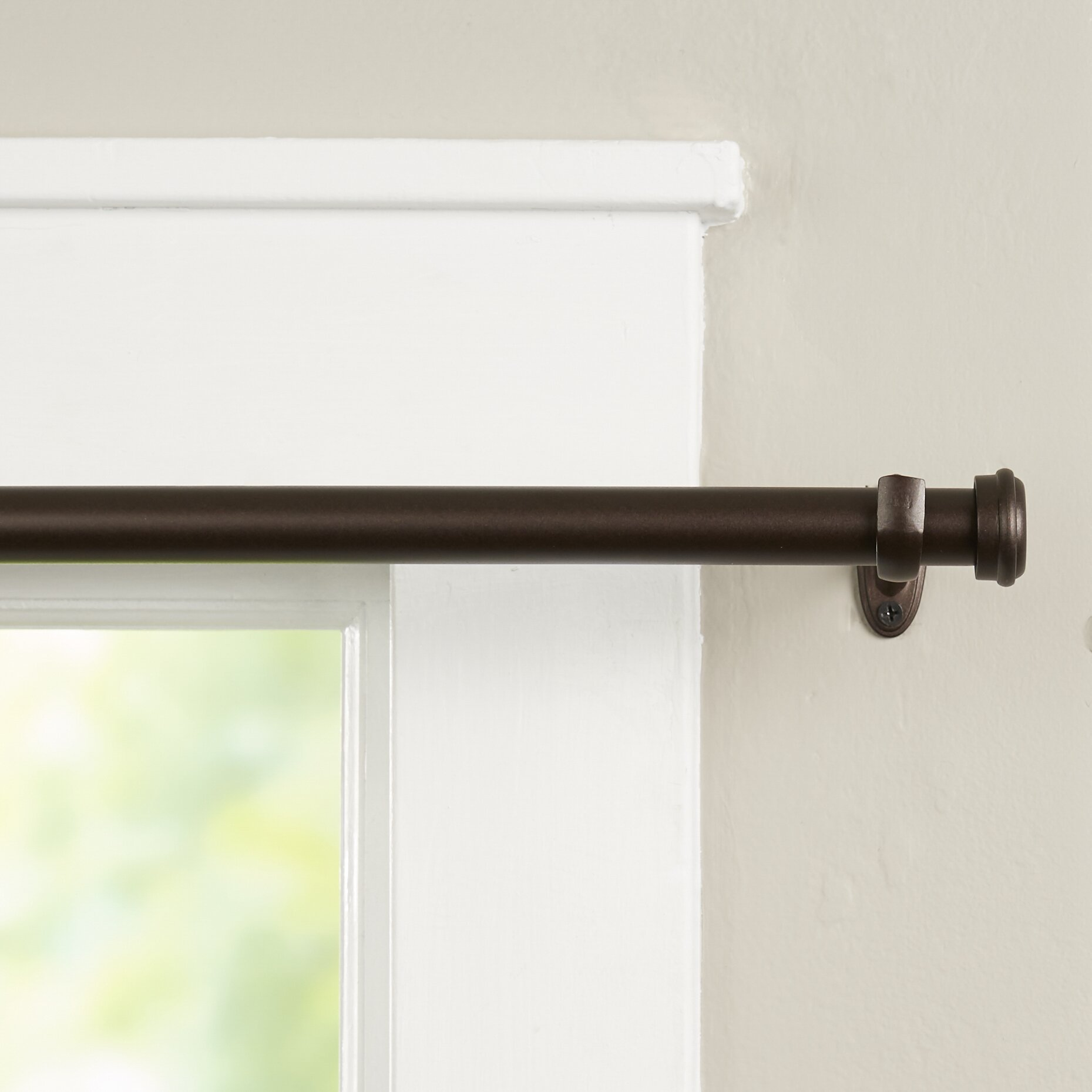 wayfair basics wayfair basics end cap single curtain rod