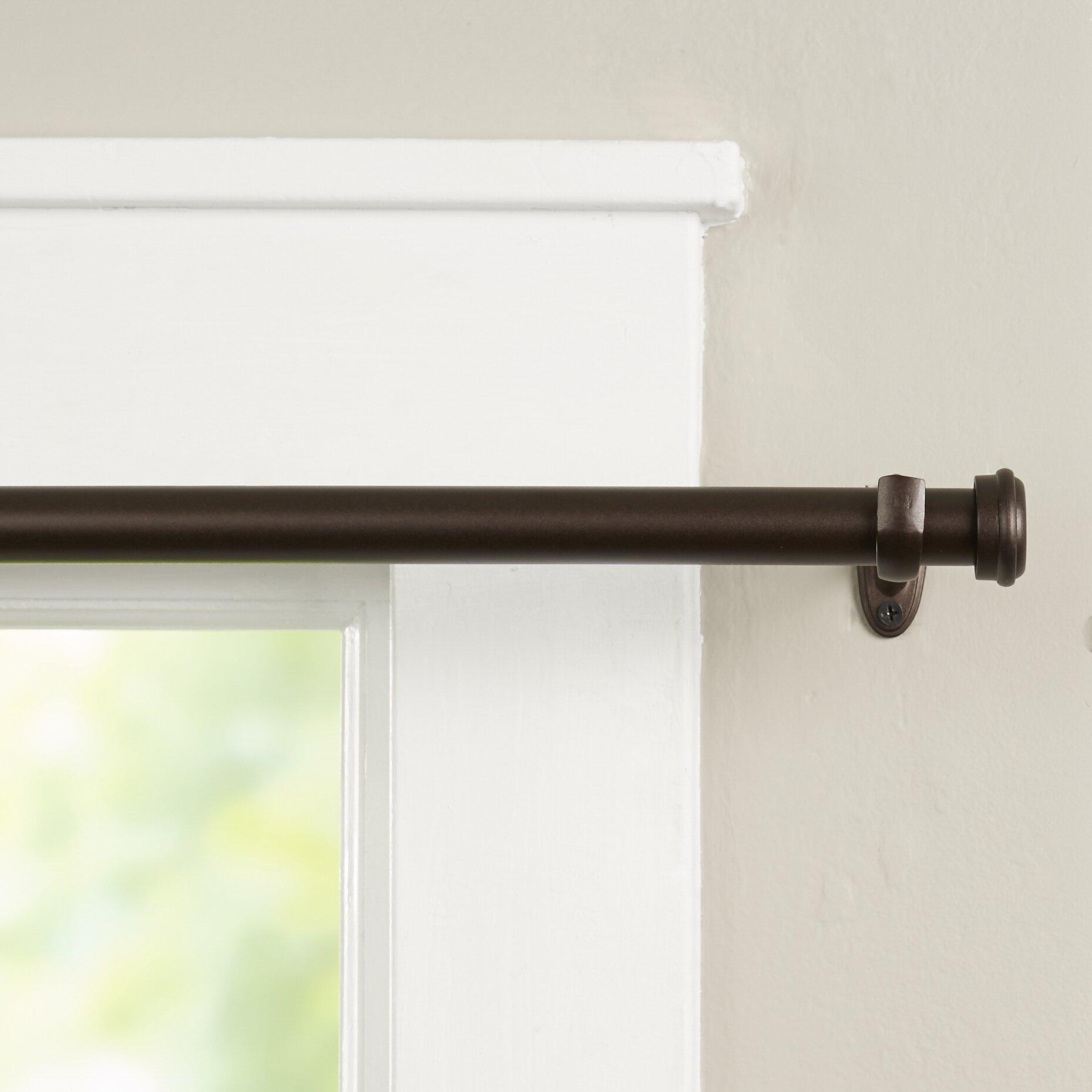 Wayfair Basics Wayfair Basics End Cap Single Curtain Rod