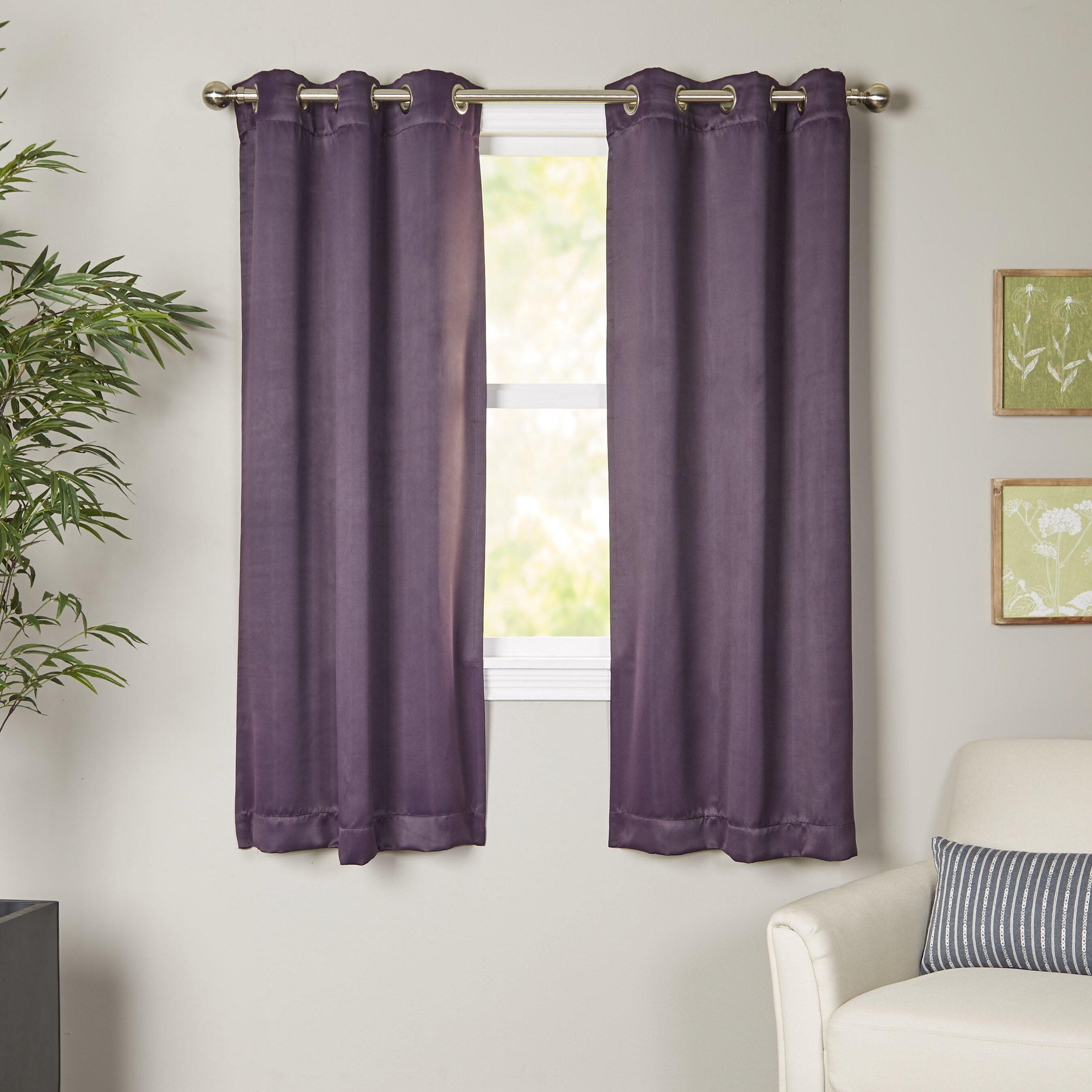 wayfair basics wayfair basics blackout grommet single curtain panel
