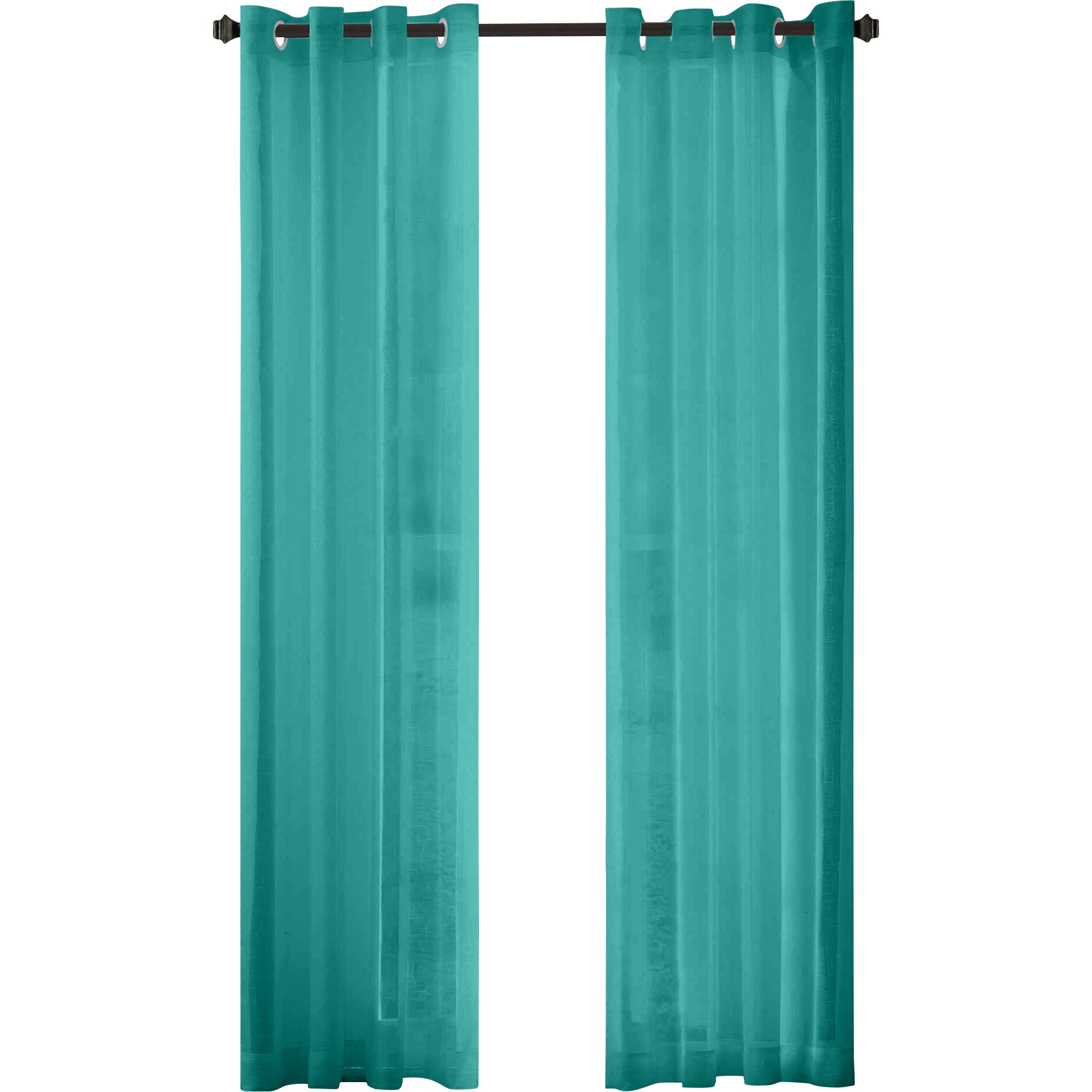 wayfair basics wayfair basics sheer grommet polyester curtain panels