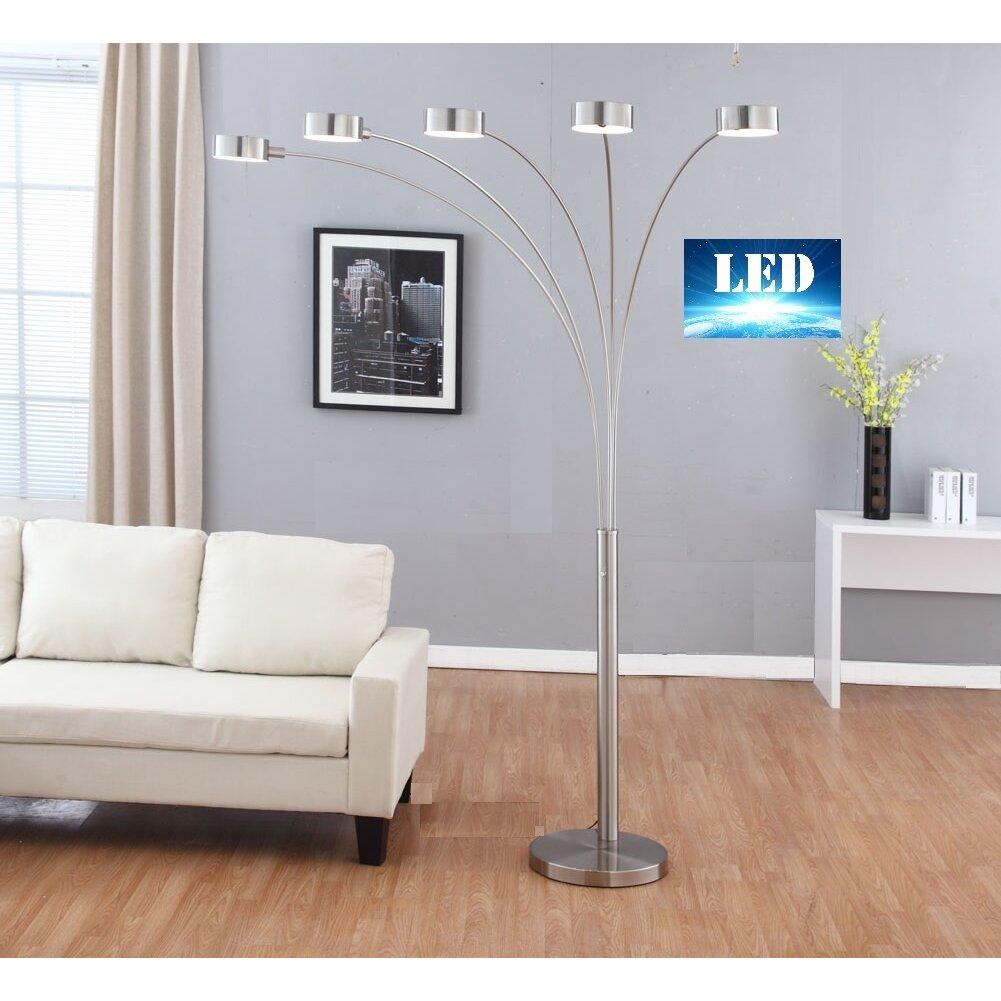 Artiva Usa Micah Led 88 Quot Arched Floor Lamp Amp Reviews Wayfair