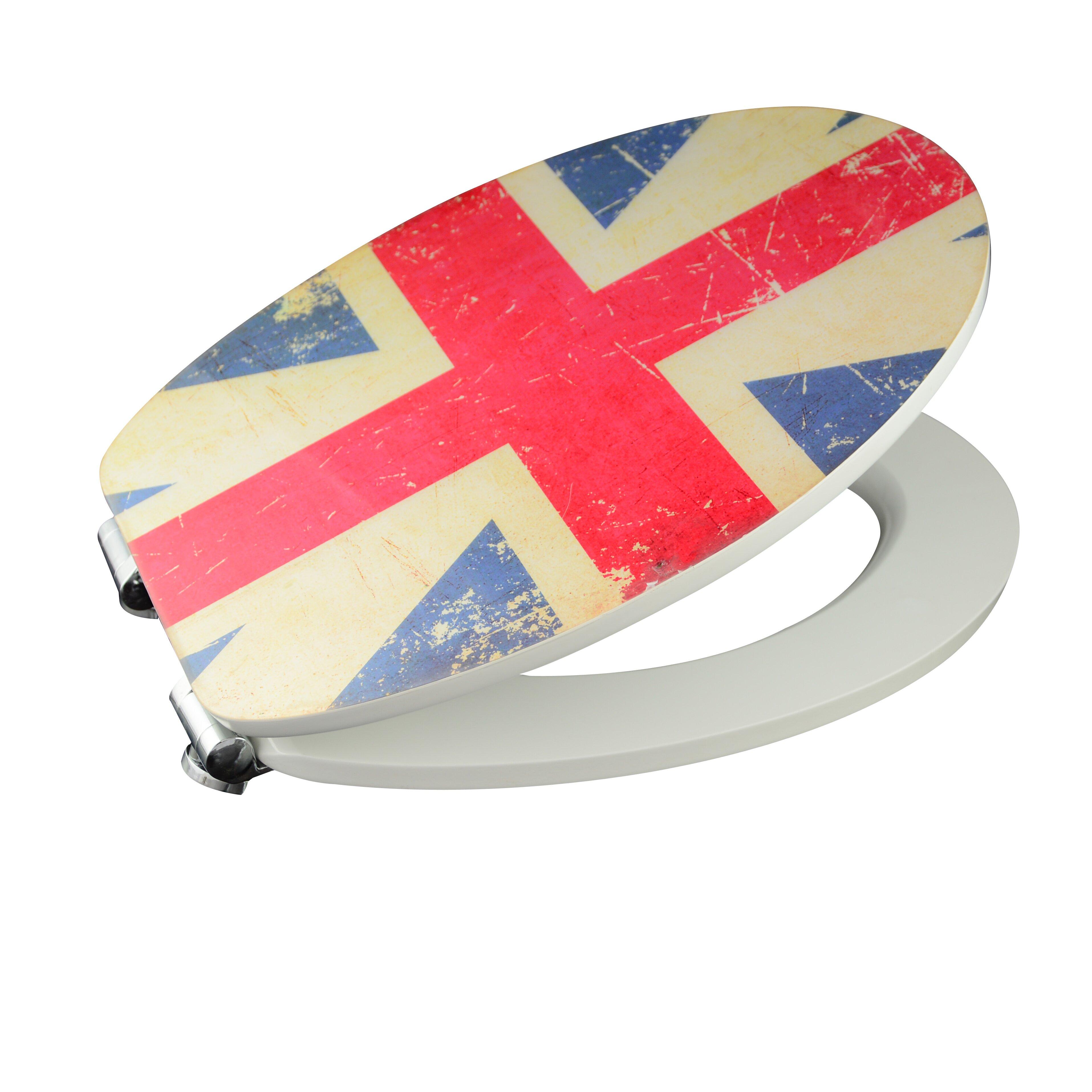 Eisl Union Jack Toilet Seat Sticker Reviews Wayfair UK