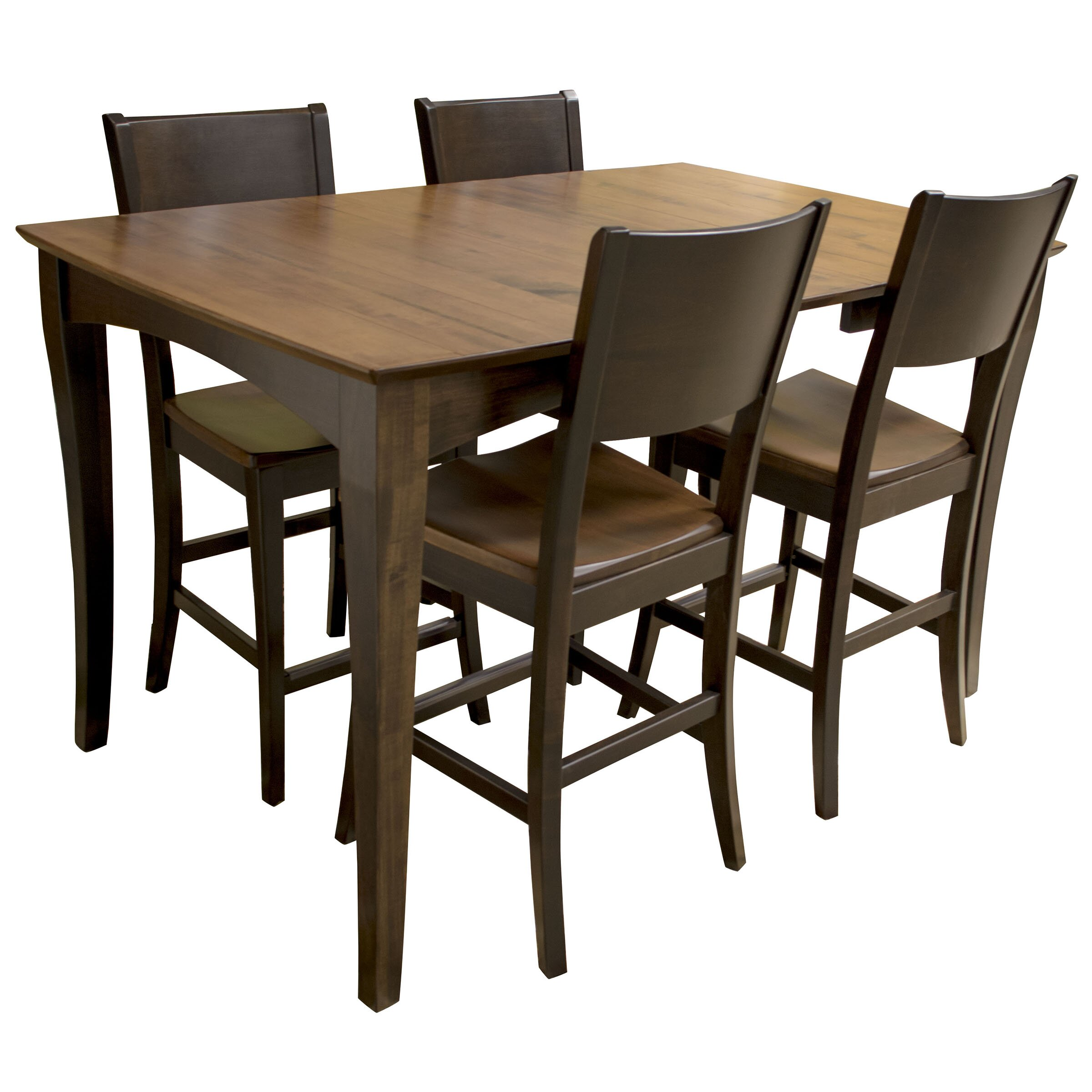 Amerihome 5 piece counter height dining set wayfair for Standard dining room table height