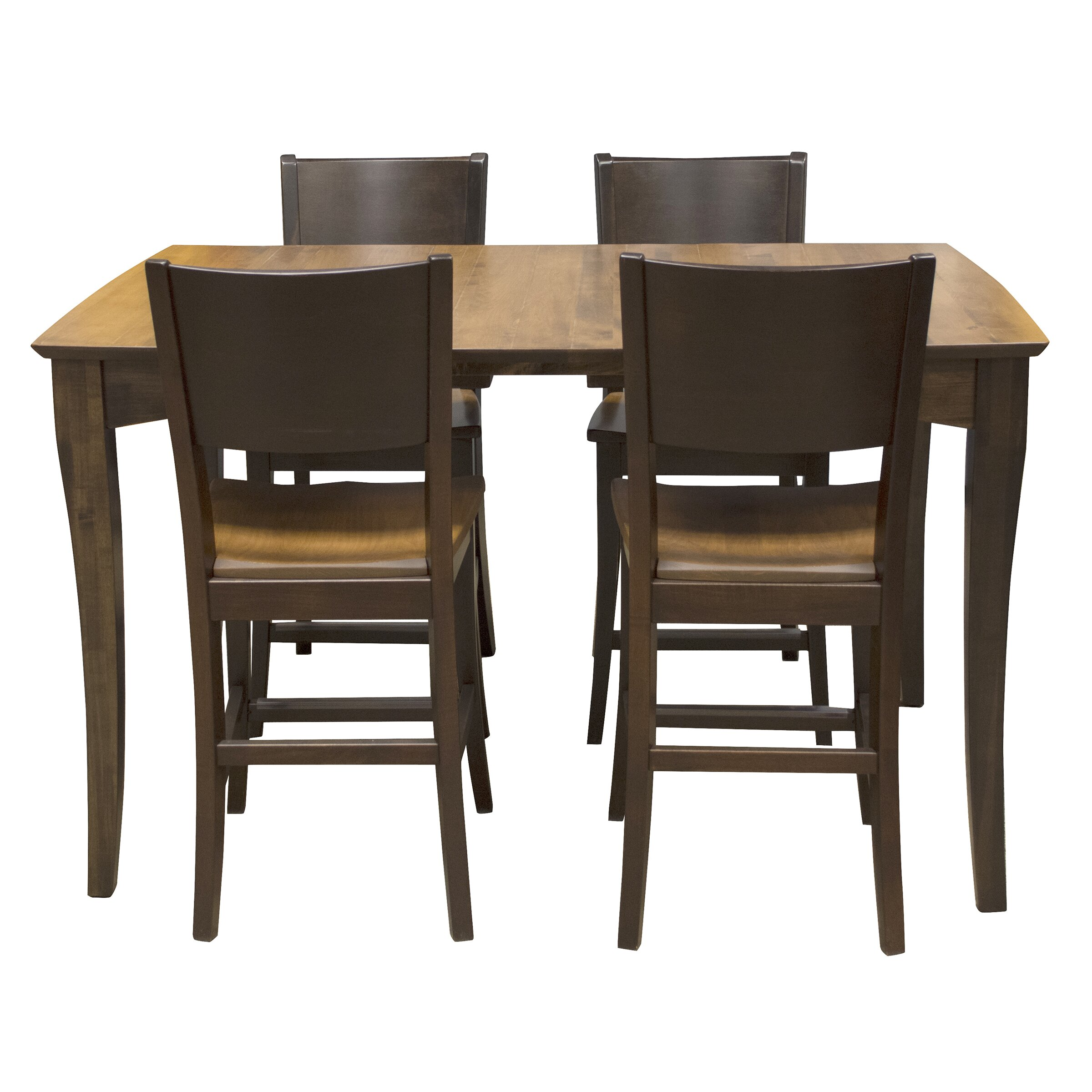 Amerihome 5 piece counter height dining set wayfair for Dining room tables made in usa