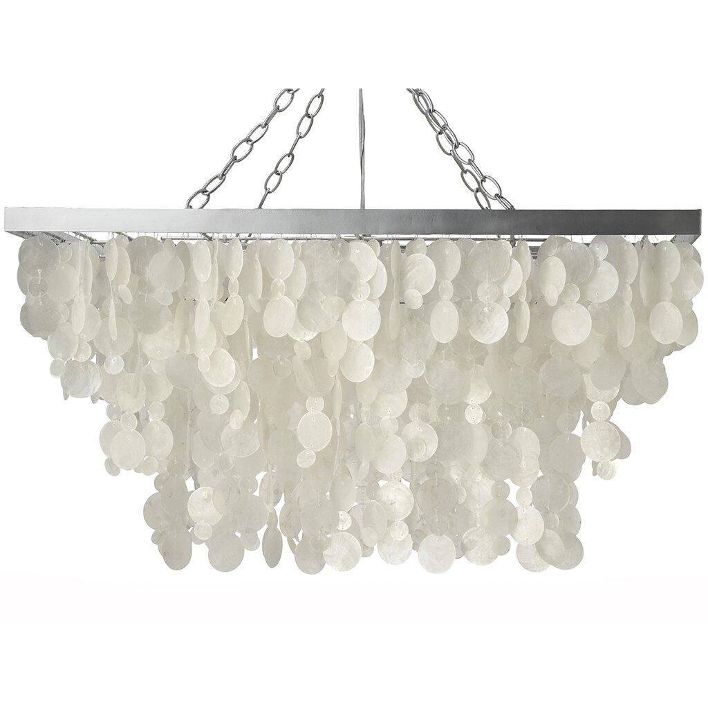 kouboo 3 light rain drop capiz pendant lamp capiz lighting fixtures