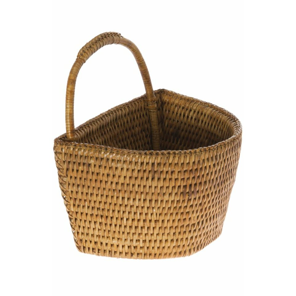 Next Woven Basket : Kouboo la jolla handwoven rattan wall basket reviews