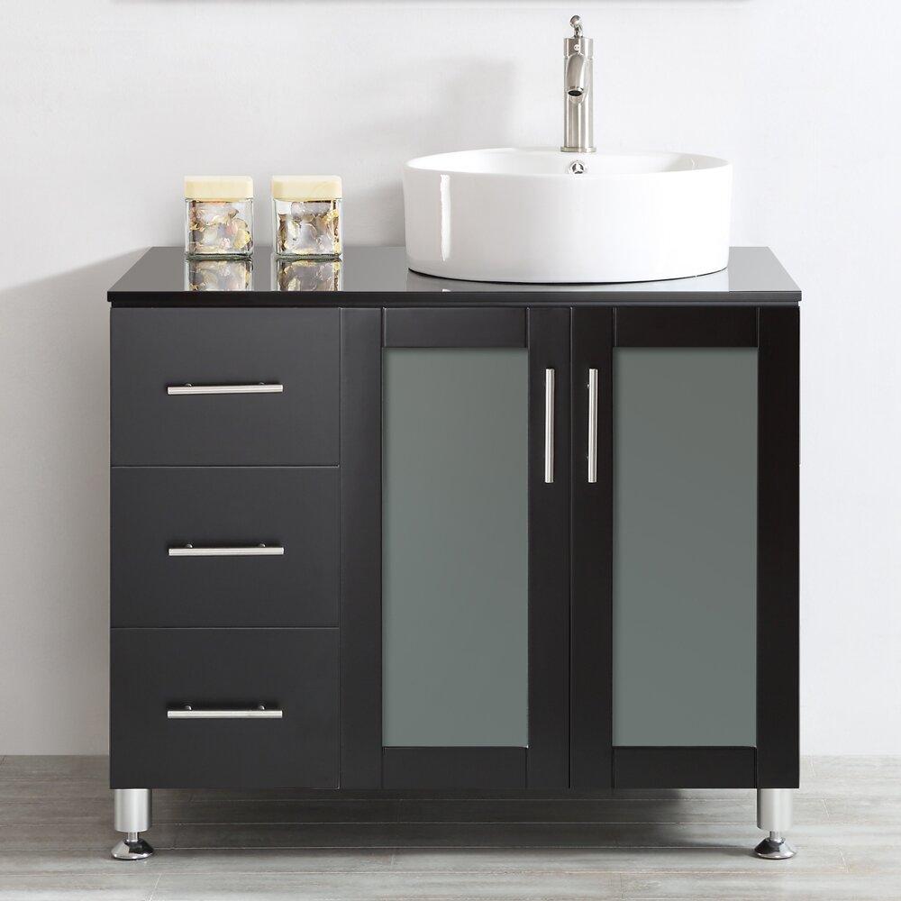 Vinnova tuscany 36 single vanity set reviews wayfair for Bathroom 36 vanities