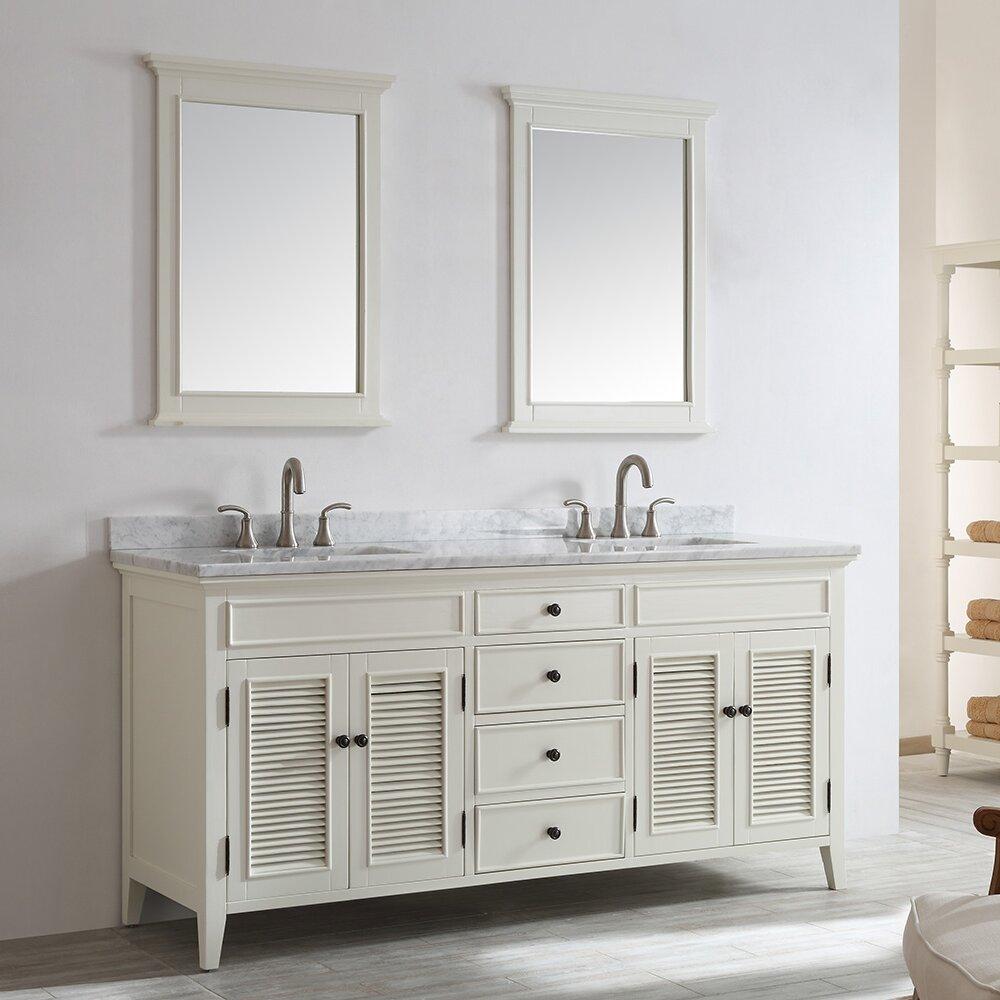 Vinnova piedmont 72 double vanity set with mirror for Vanity set with mirror