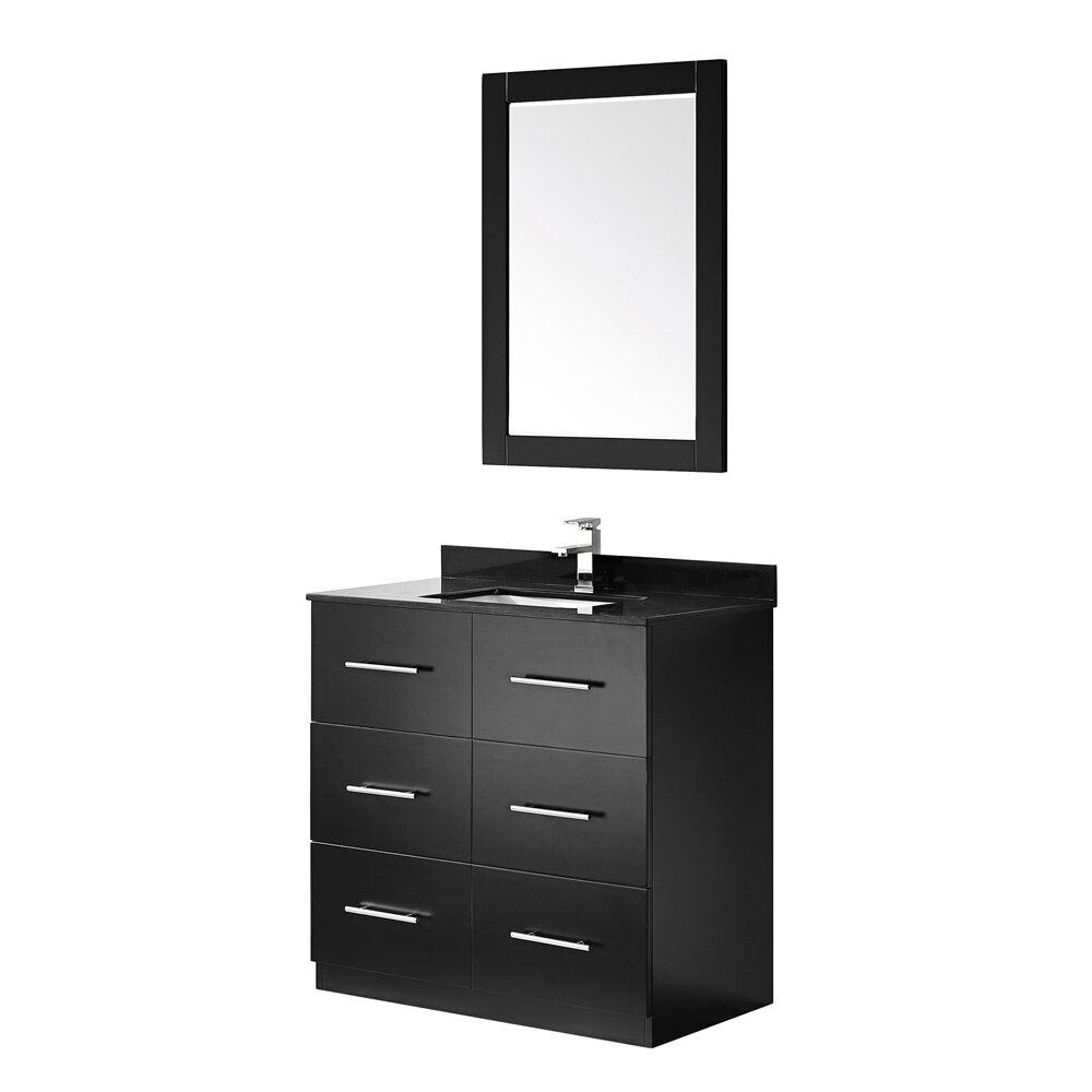 Vinnova latina 36 single vanity set with mirror wayfair for Vanity set with mirror
