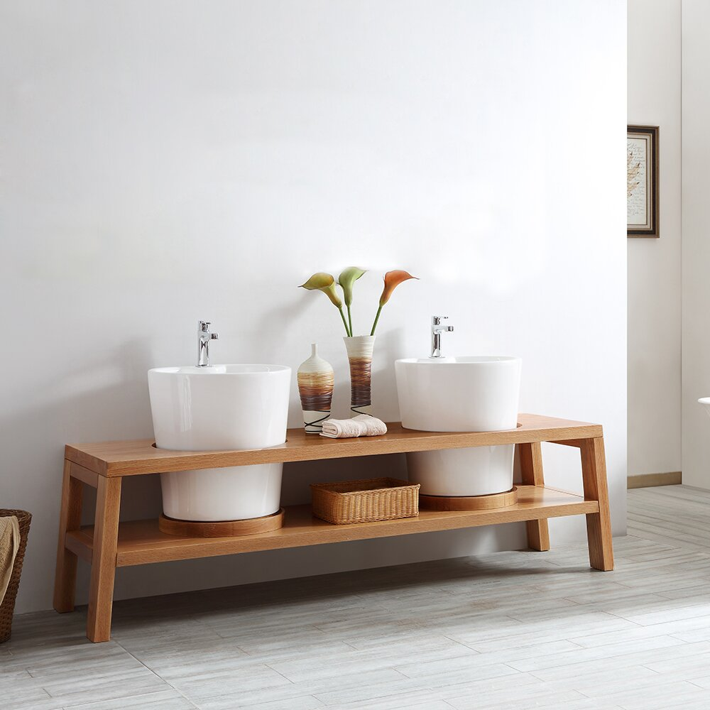 Vinnova Lecce 78 Double Bathroom Vanity Set Wayfair
