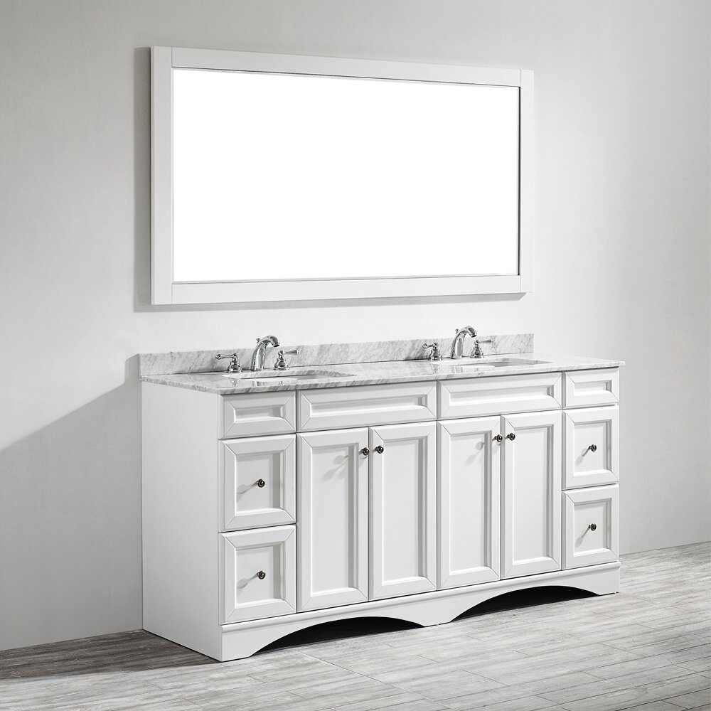 Vinnova Naples 72 Double Bathroom Vanity Set With Mirror Reviews