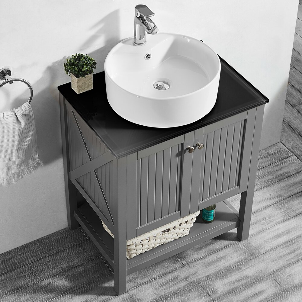 Vinnova modena 28 single bathroom vanity set for Kitchen set modena