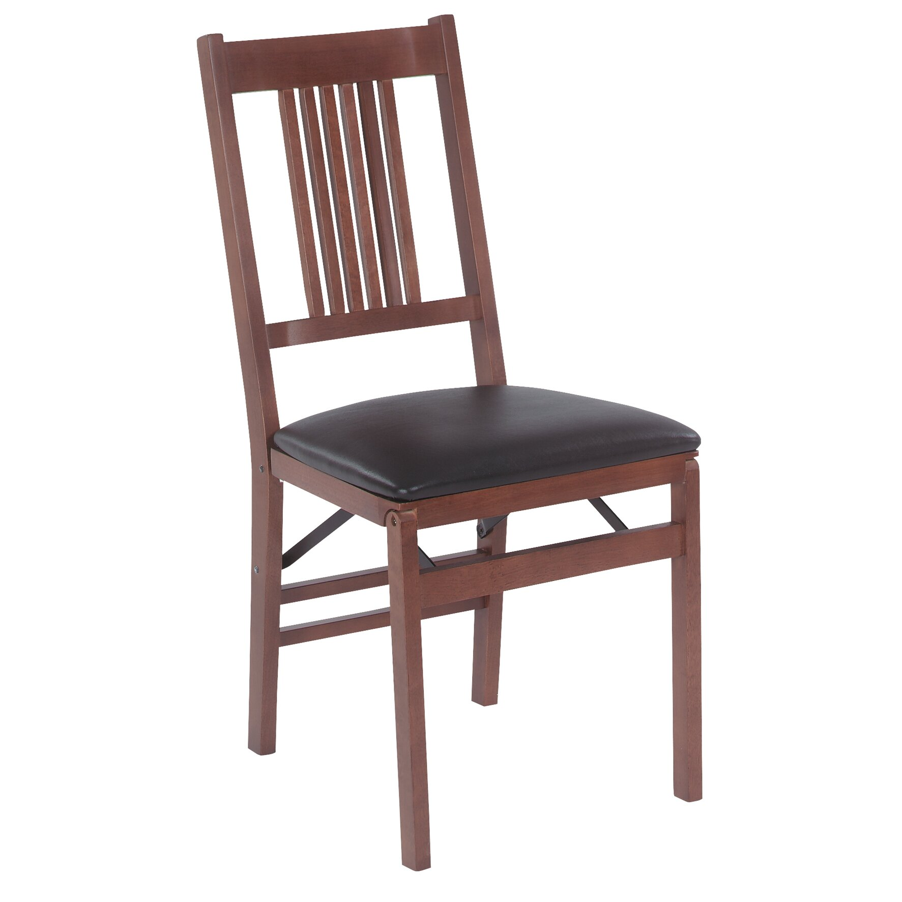 stakmore true mission wood folding chair with vinyl seat reviews wayfair. Black Bedroom Furniture Sets. Home Design Ideas