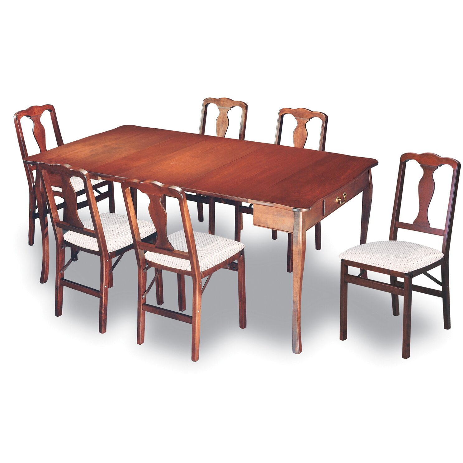 stakmore traditional expanding dining table reviews wayfair. Black Bedroom Furniture Sets. Home Design Ideas