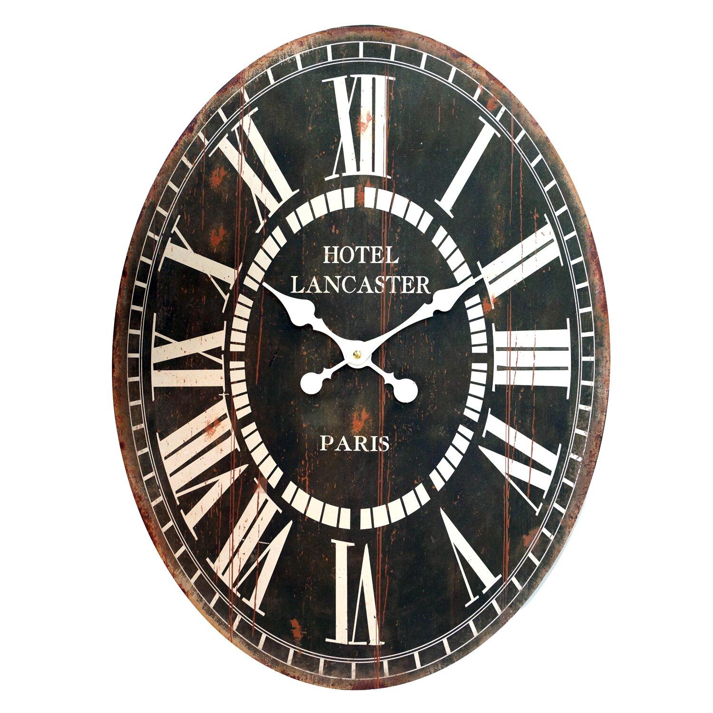American Mercantile Wood Oval Clock Amp Reviews Wayfair