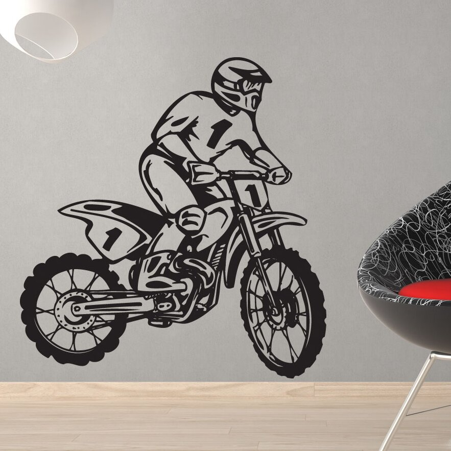 style and apply dirt bike rider wall decal wayfair online buy wholesale remove bike decals from china remove