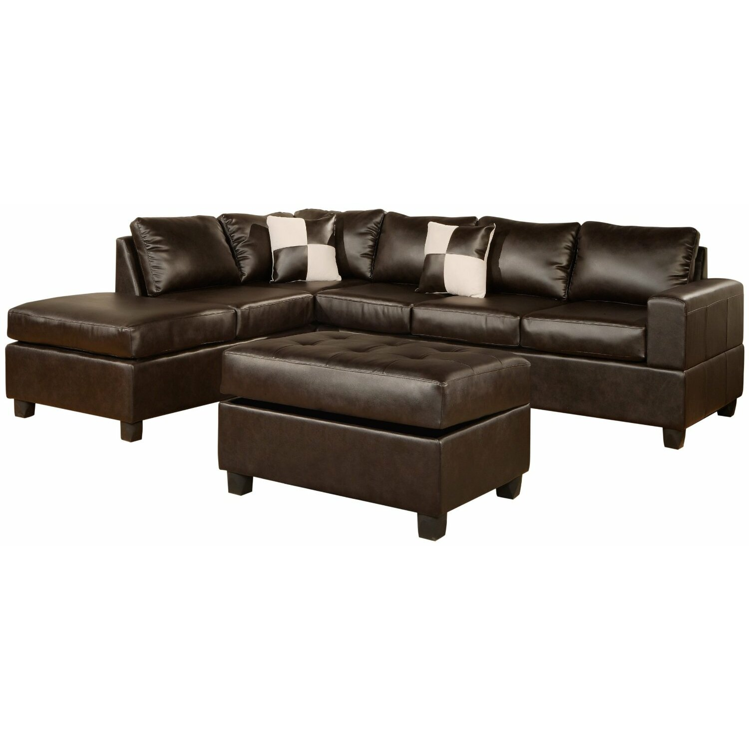Madison home usa reversible chaise sectional reviews for Imagenes de sofas