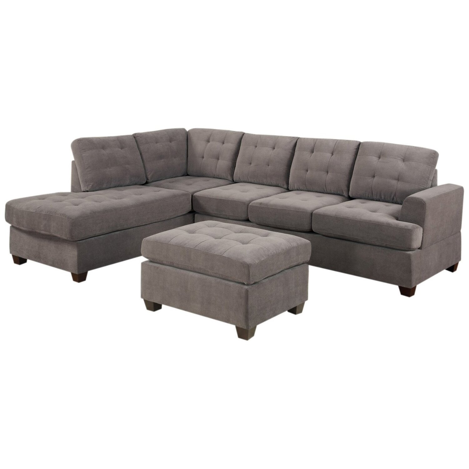 Red Barrel Studio Old Rock Reversible Chaise Sectional & Reviews