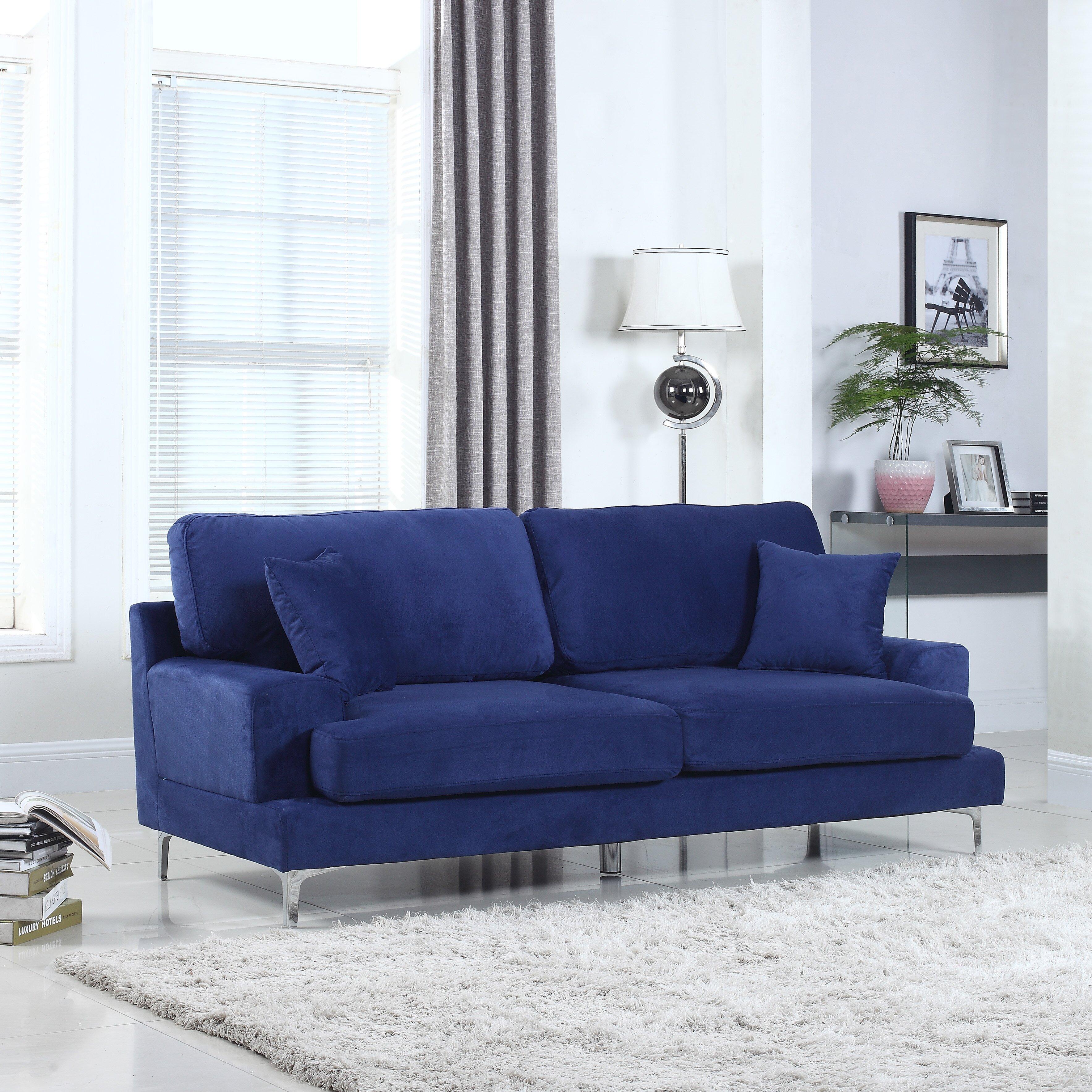 Madison home usa ultra modern plush velvet living room for Modern living room usa