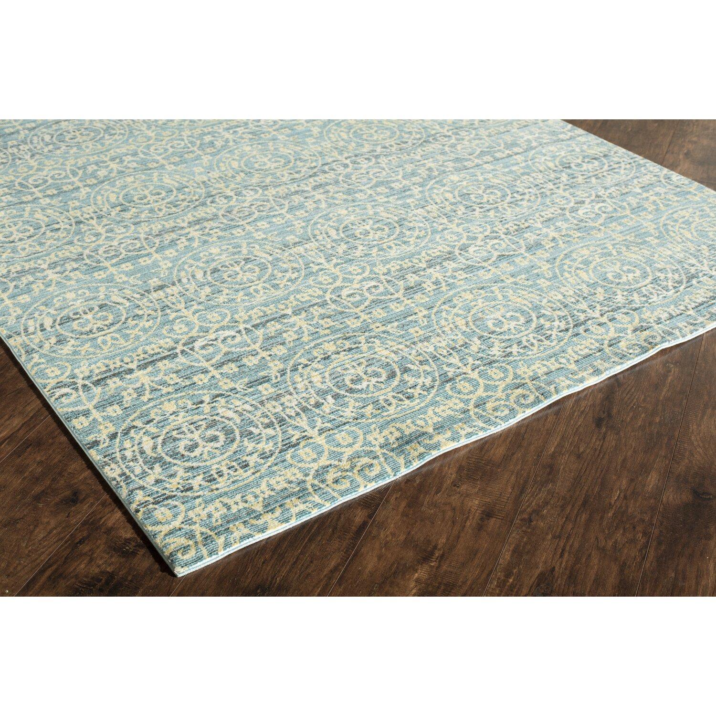 rugs america asteria blue gold area rug wayfair. Black Bedroom Furniture Sets. Home Design Ideas