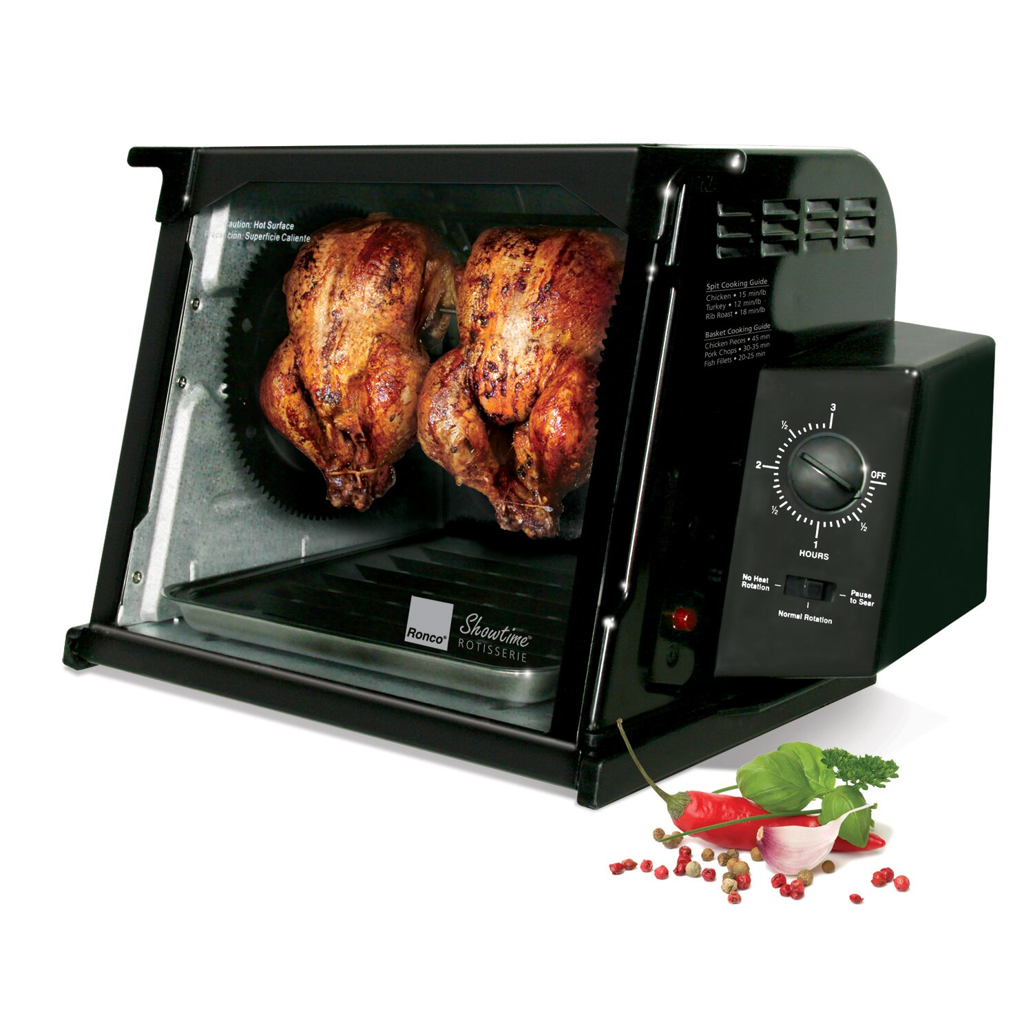 how to use showtime rotisserie and bbq