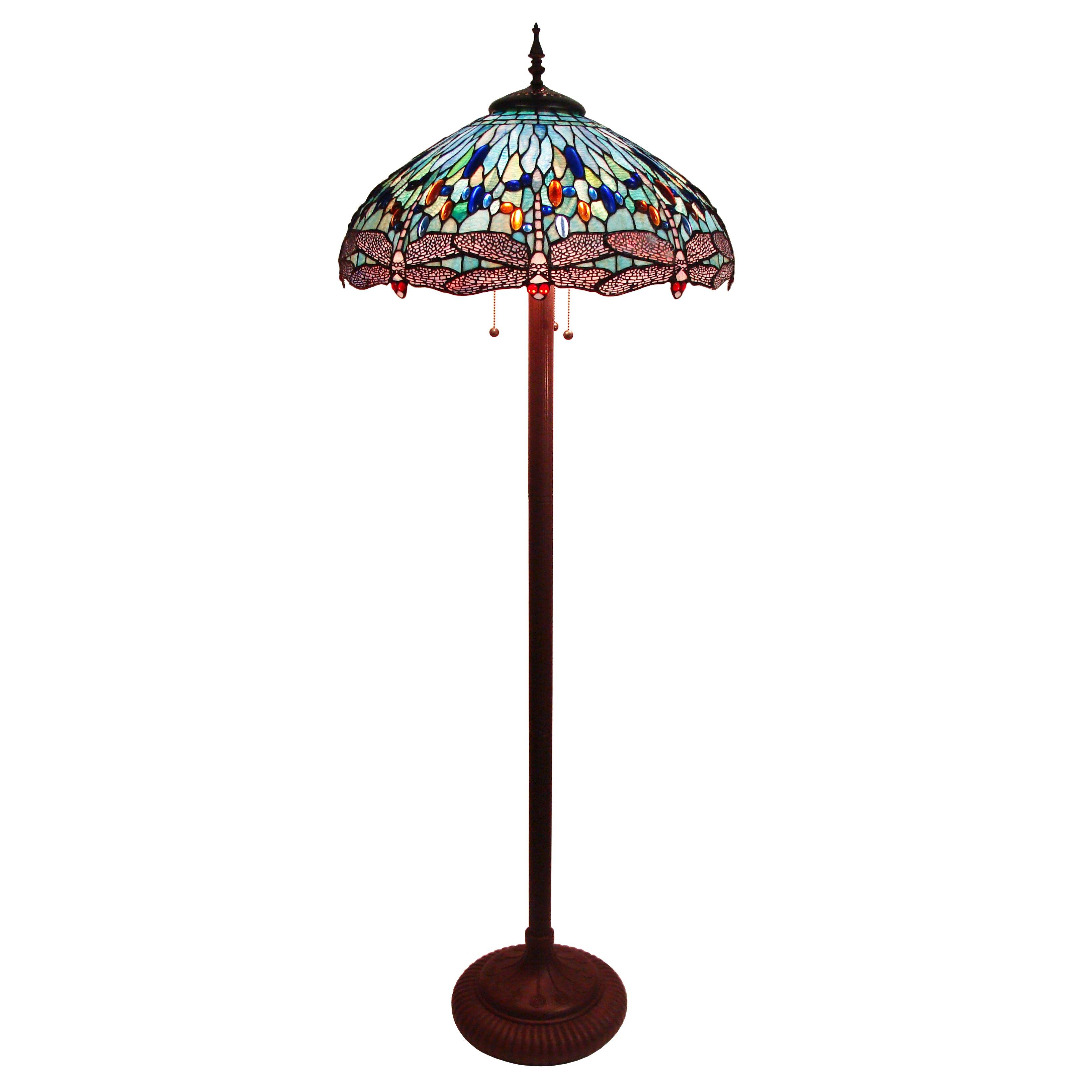 Fine Art Lighting Tiffany Dragonfly 65 Floor Lamp