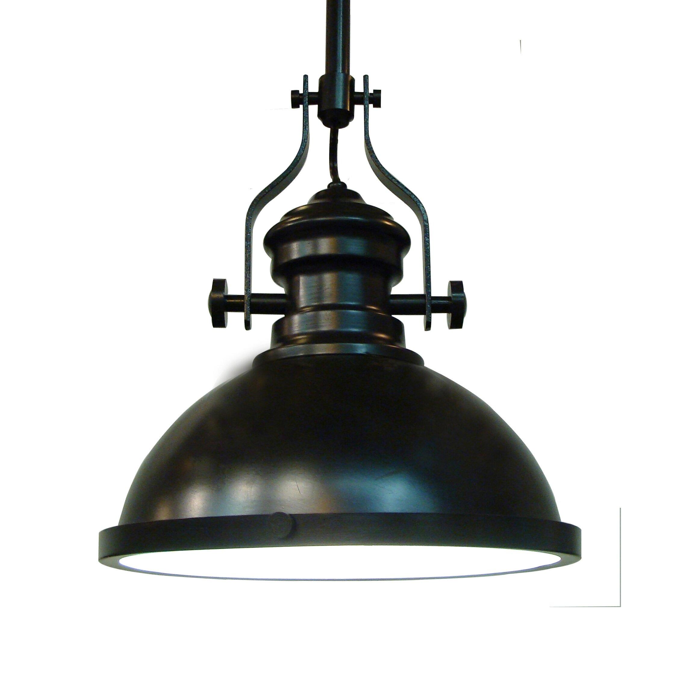Fine art lighting restoration 1 light bowl pendant for Artistic pendant lights
