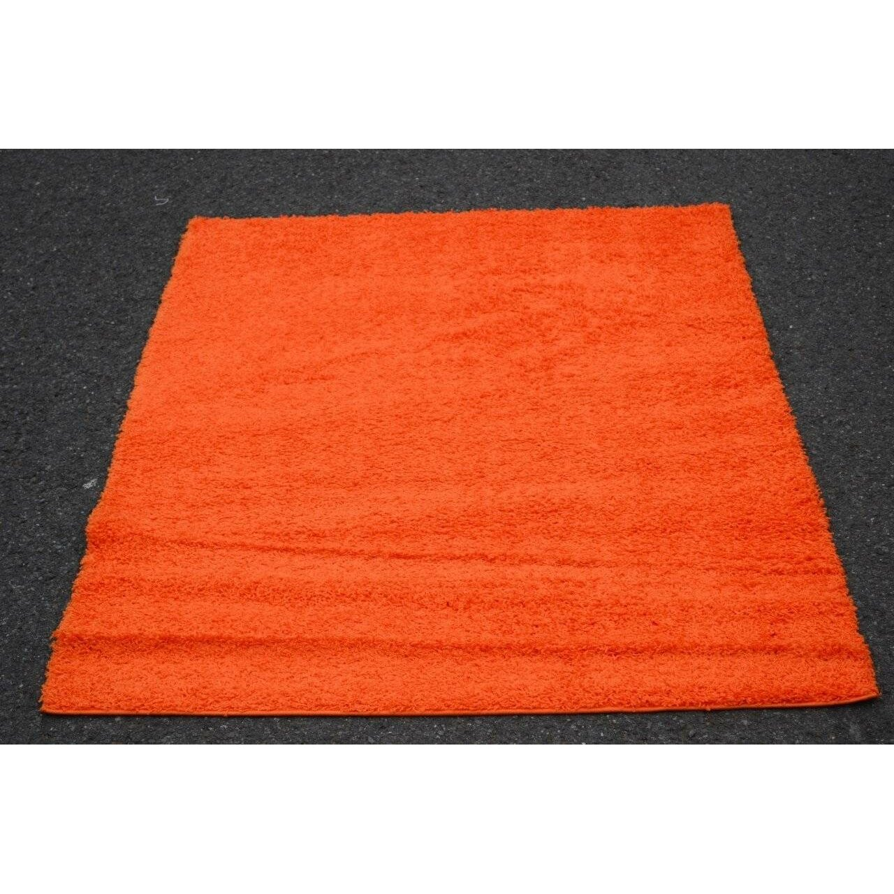 Persian rugs modern shag orange area rug reviews wayfair for Modern area rugs for sale